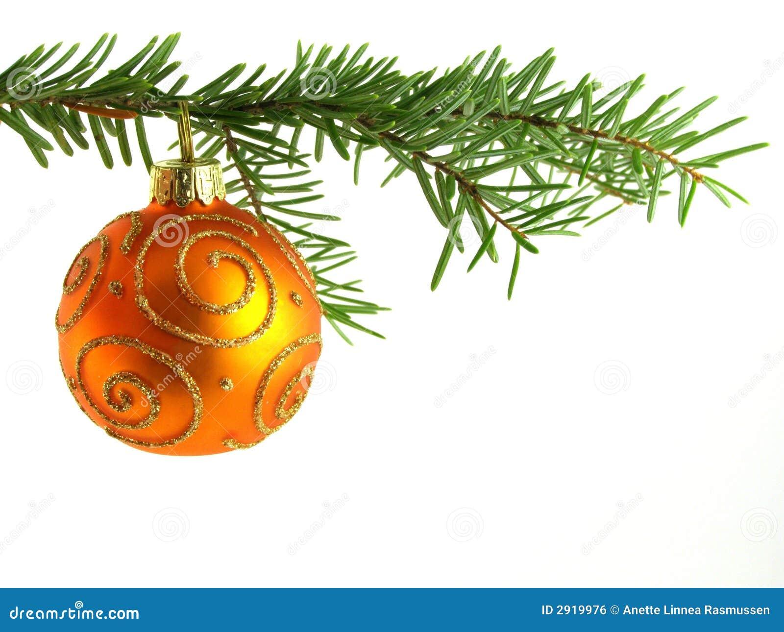 Orange Christmas Bauble Stock Photo. Image Of Object, Ball