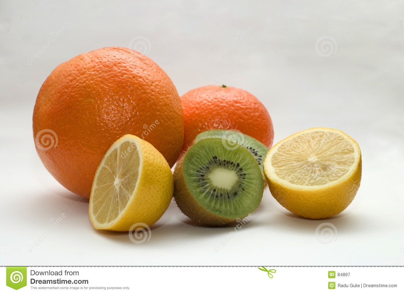 Orange, citron, kiwi