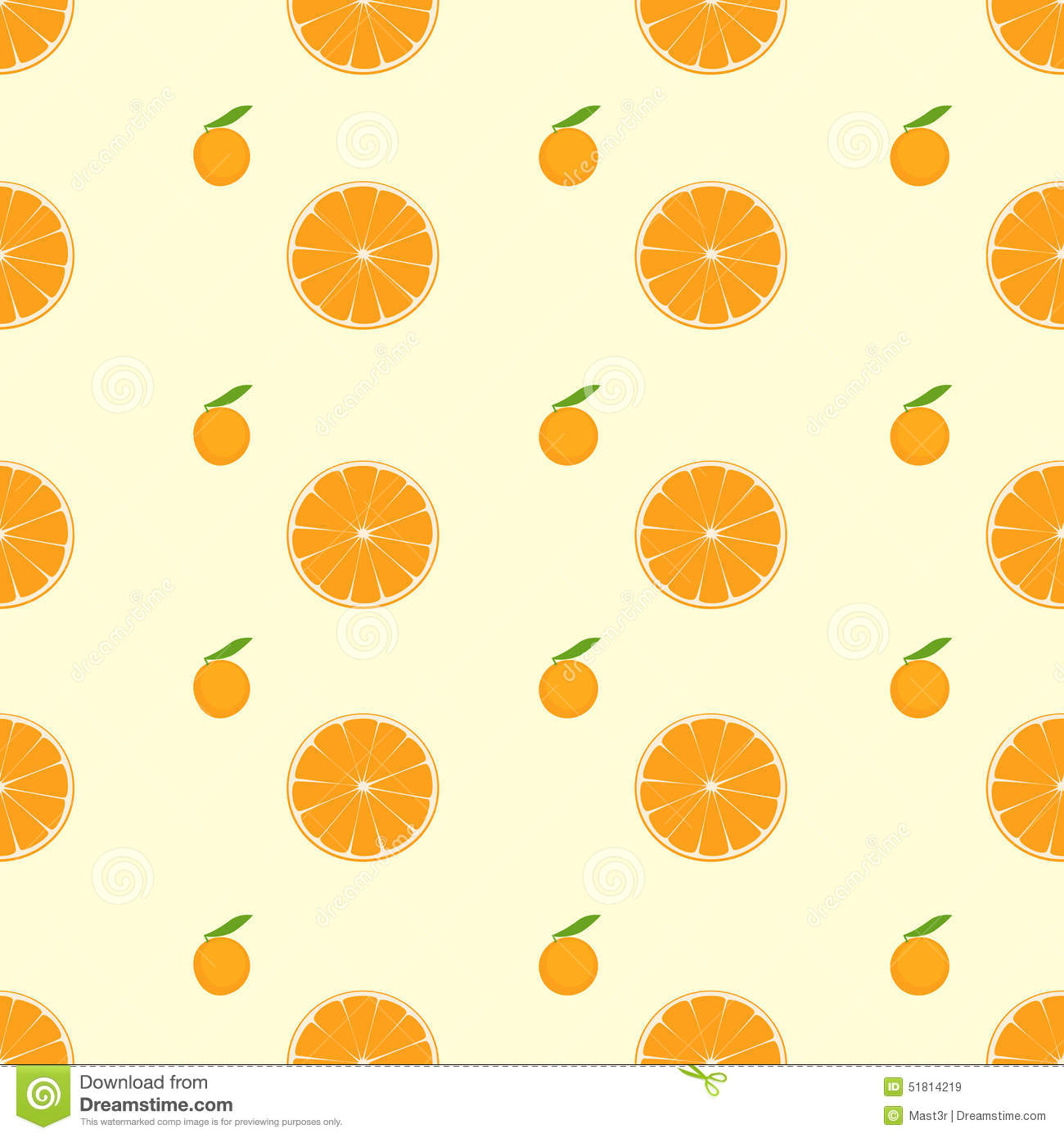 Orange Citrus Fruit Slice Seamless Pattern Vector Stock ...