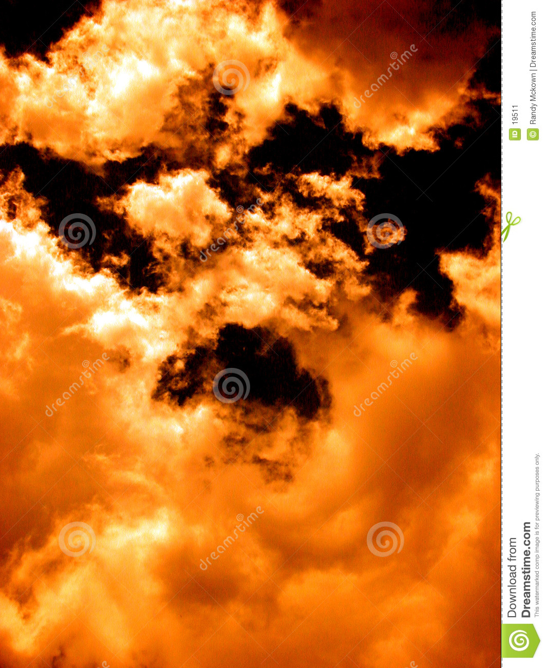 Orange Cloudscape - Fire in the sky