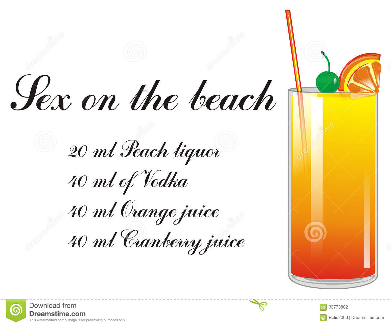 Whats in sex on the beach drink