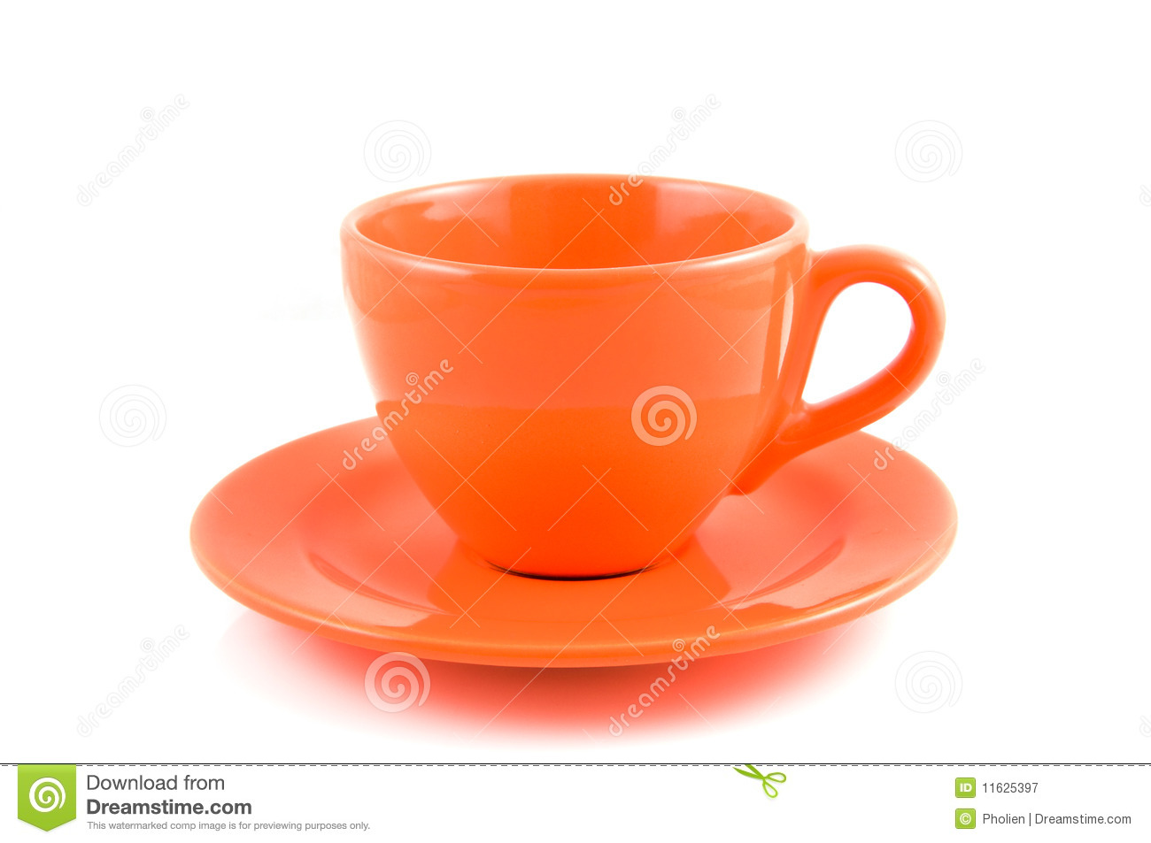 orange coffee cup with plate stock image image of bowl full 11625397