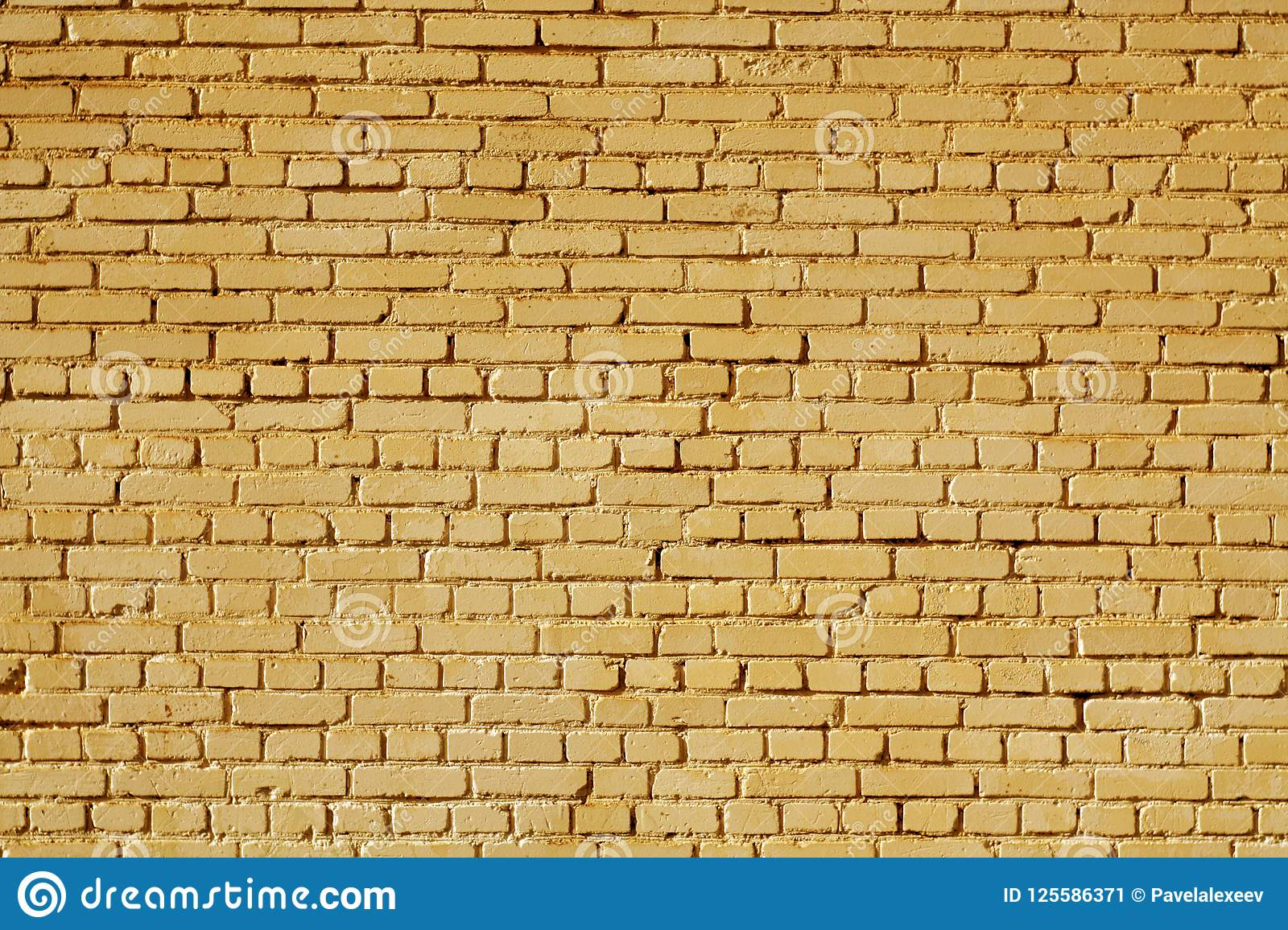 Orange Color Old Grungy Brick Wall Surface. Stock Image - Image of ...