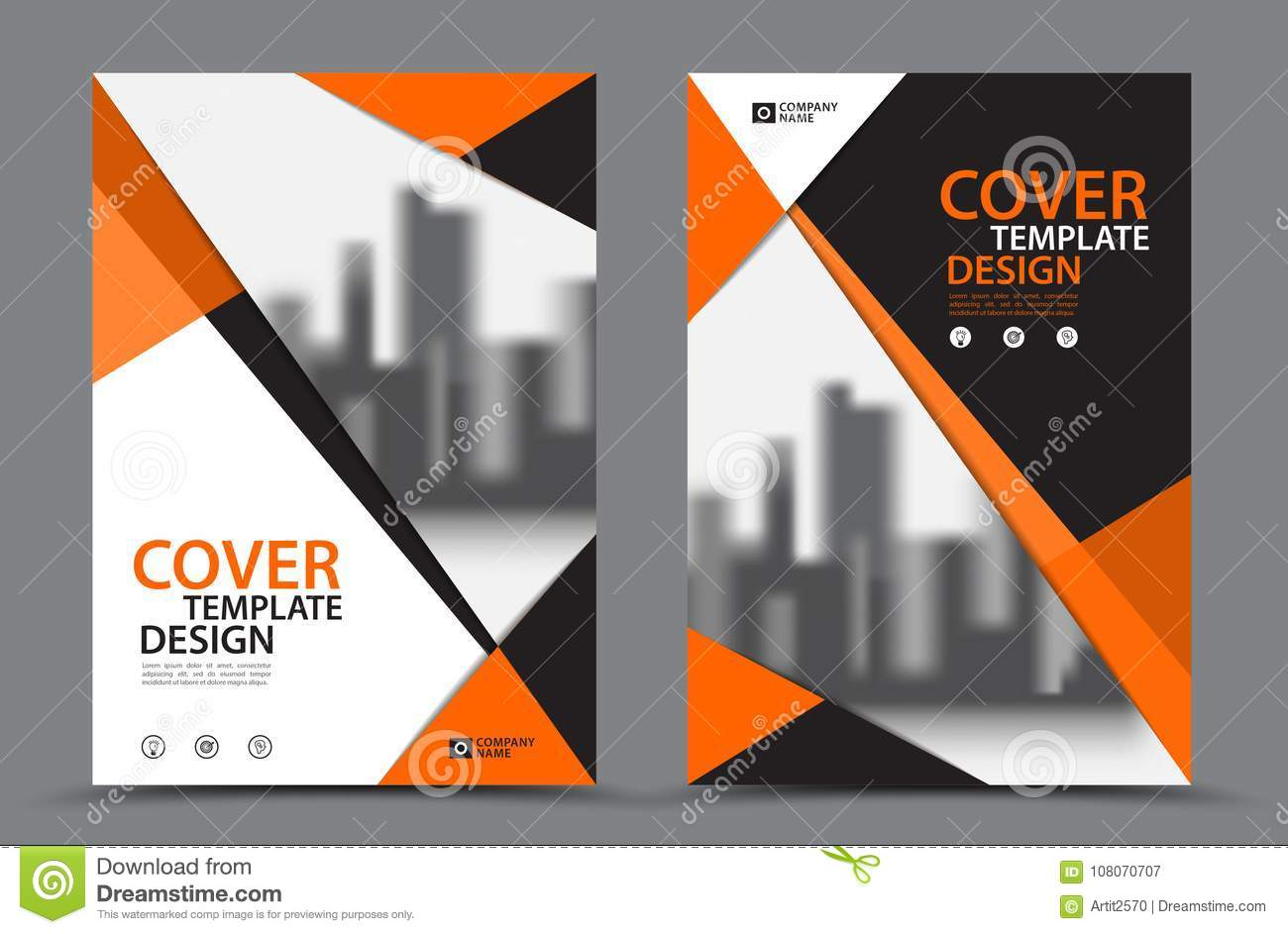 Orange Color Scheme With City Background Business Book ...