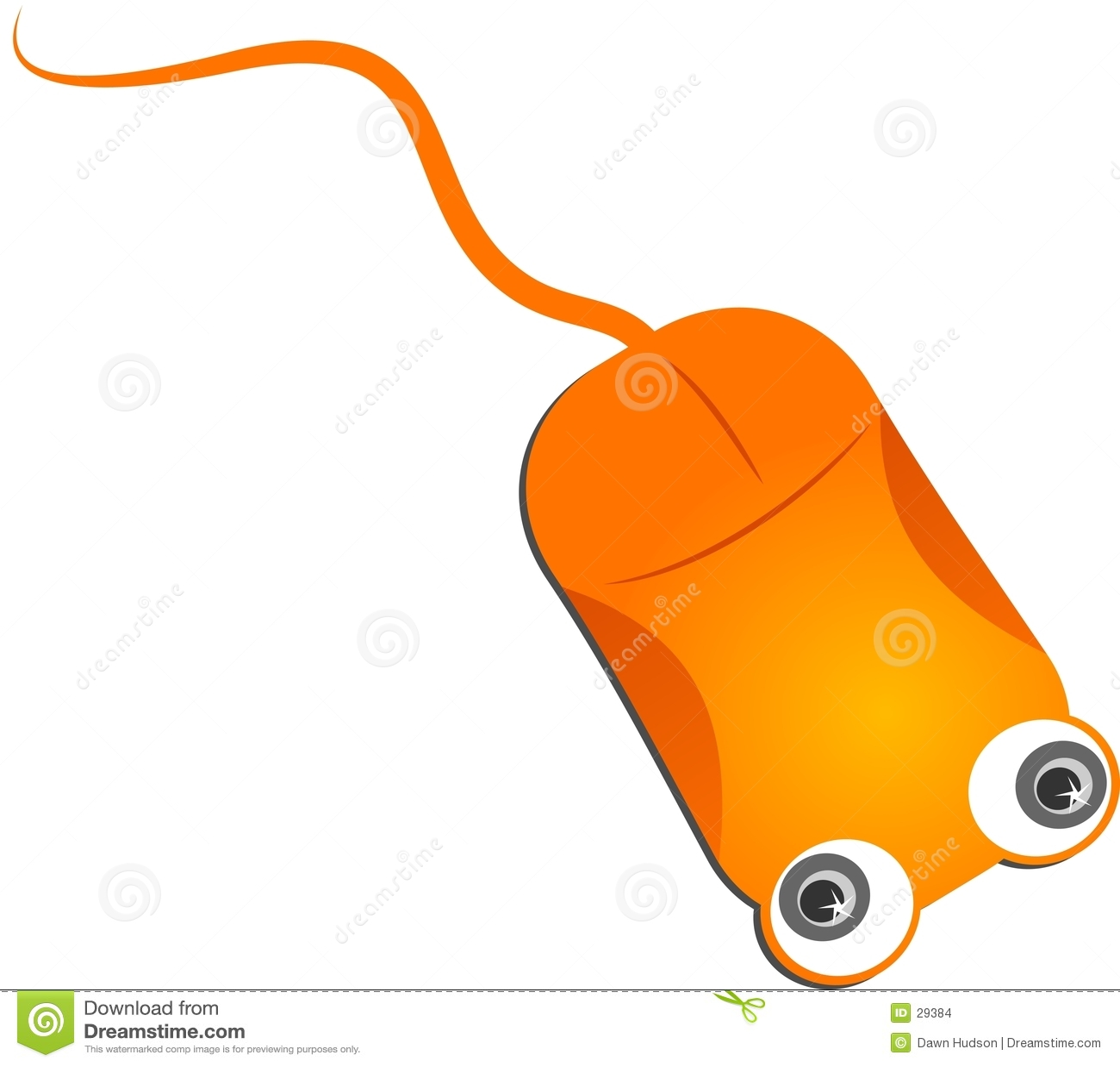 Orange Computer Mouse