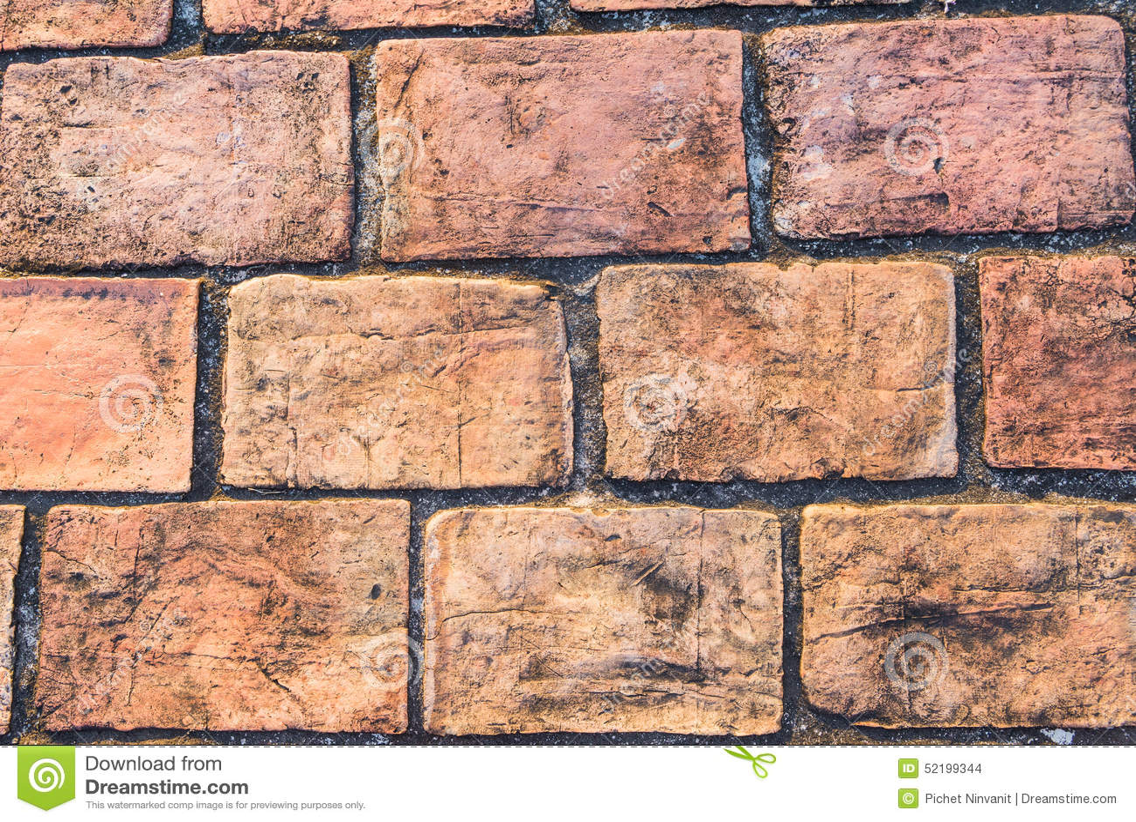 Marble Small Block : Orange stone block pavement texture stock photo