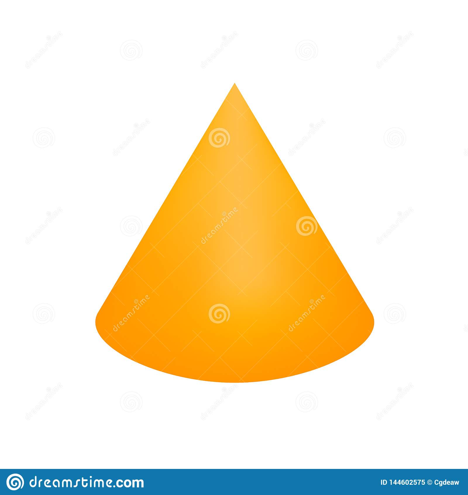 Orange Cone Basic Simple 3d Shapes Isolated On White Background Geometric Cone Icon 3d Shape Symbol Cone Clip Art Geometric Stock Vector Illustration Of Basic Flat 144602575