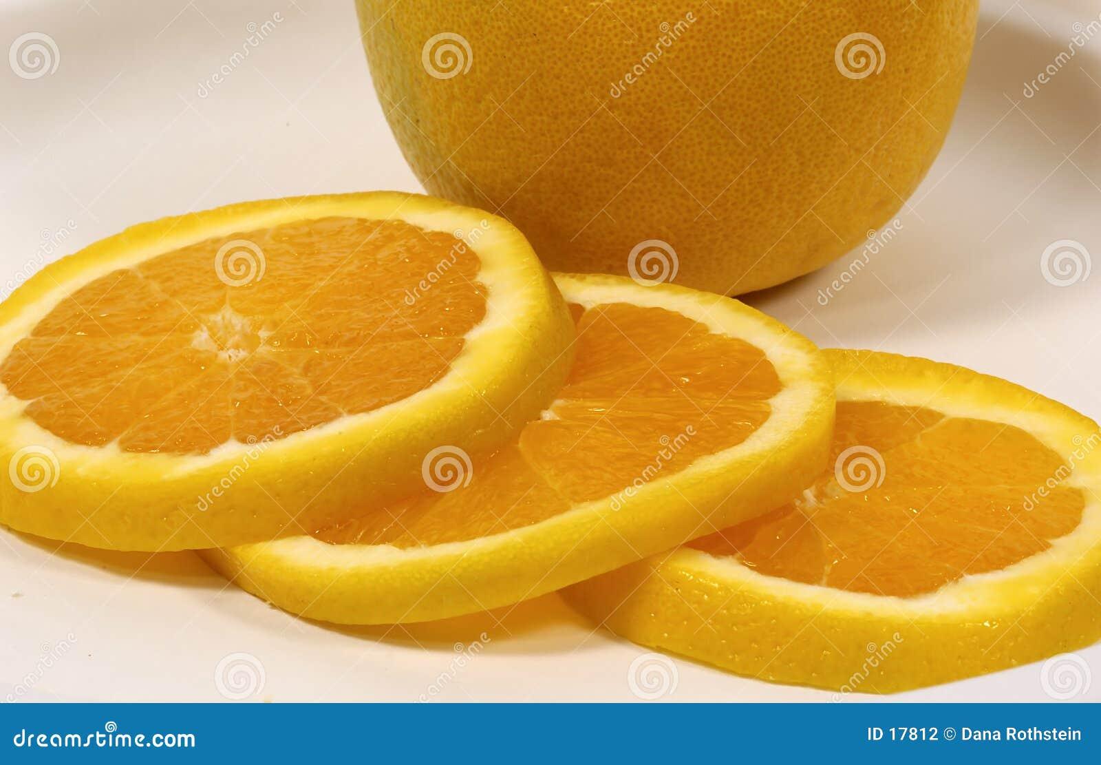 Orange coupée en tranches
