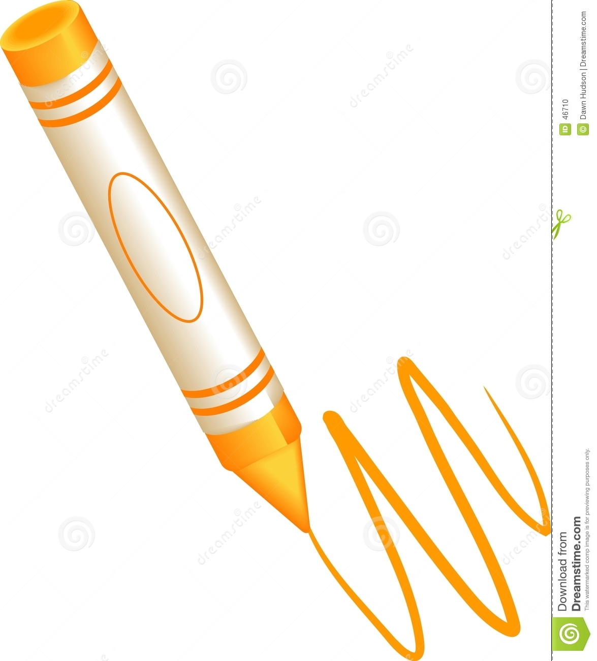 Crayon Scribble Drawing : Orange crayon stock vector image of write colours