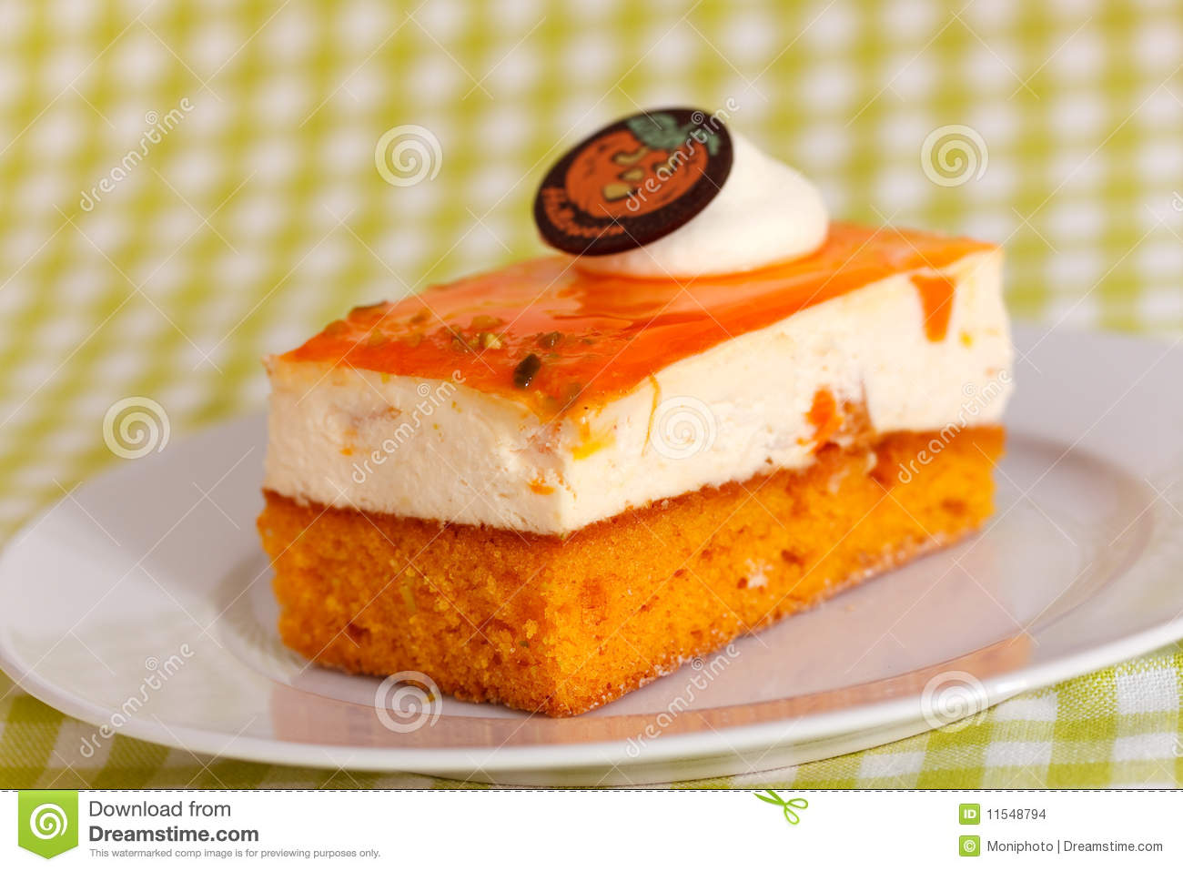 Orange Cream Cake With Cream Stock Images - Image: 11548794