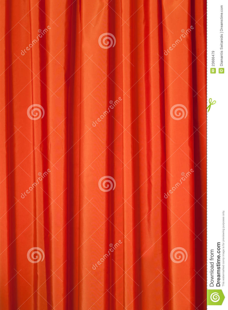 Orange curtains stock image. Image of drapes, opera ...