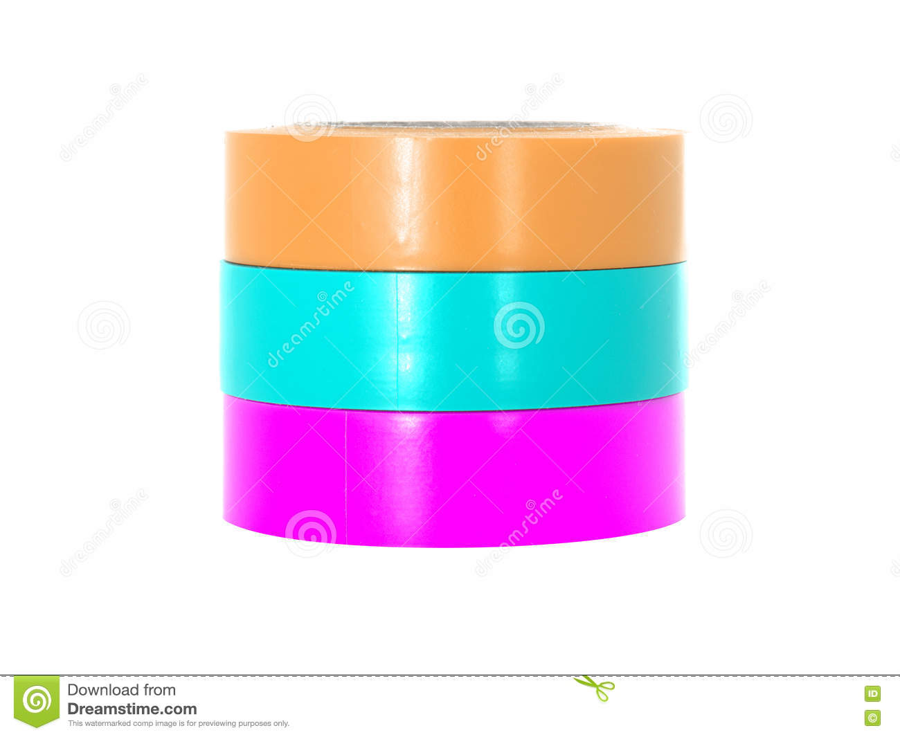 orange-cyan-magenta-insulating-tape-reel