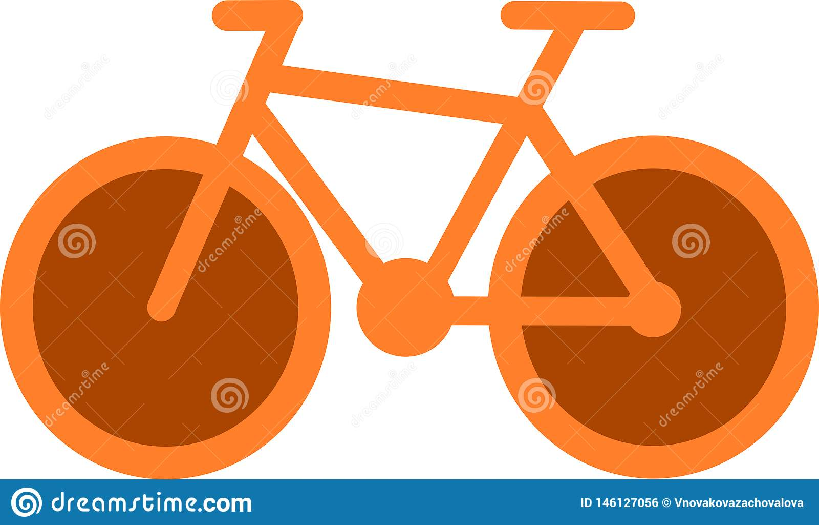 Orange cykelsymbol