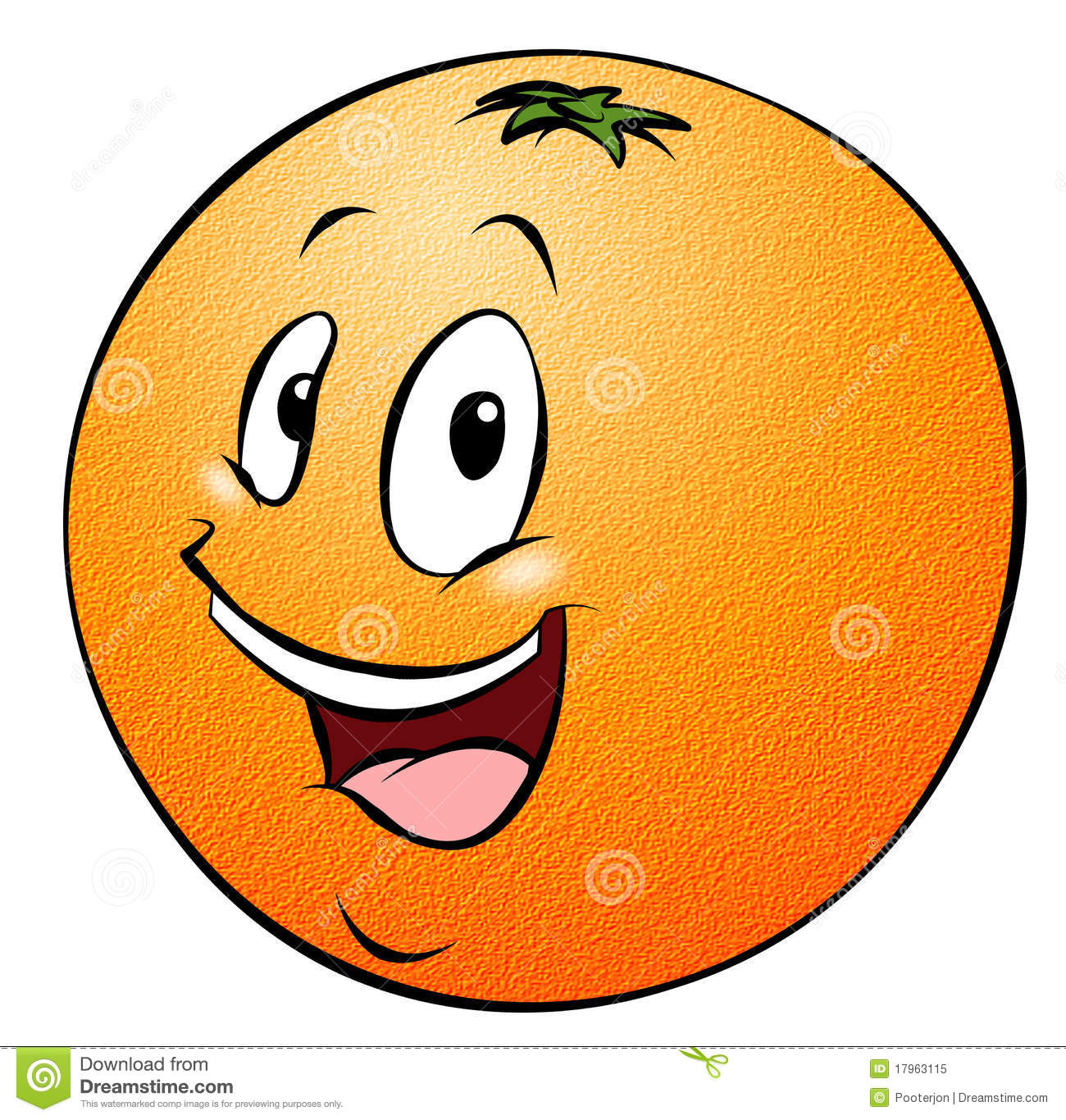 Orange de dessin anim illustration stock illustration du - Orange dessin ...
