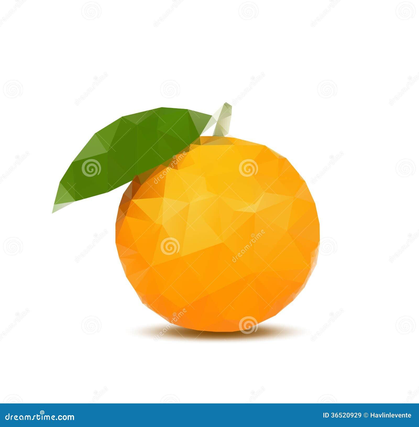 Orange de résumé avec le style de triangle