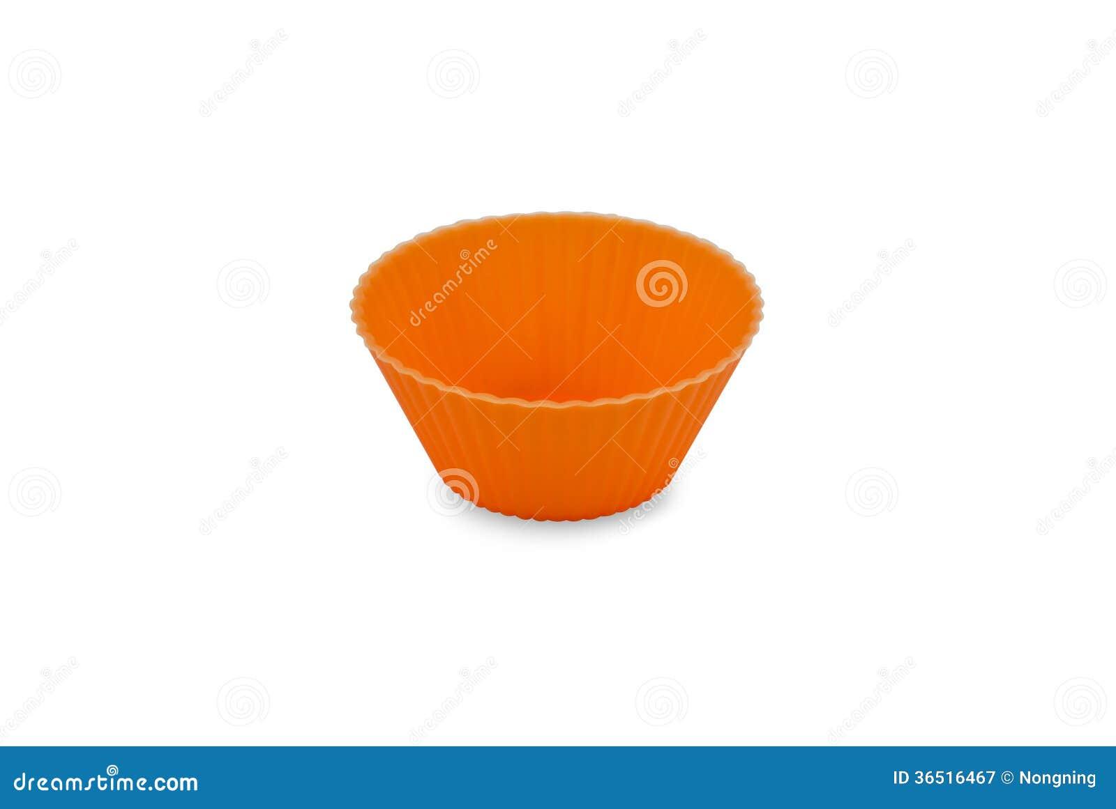 Orange de tasse de petit gâteau
