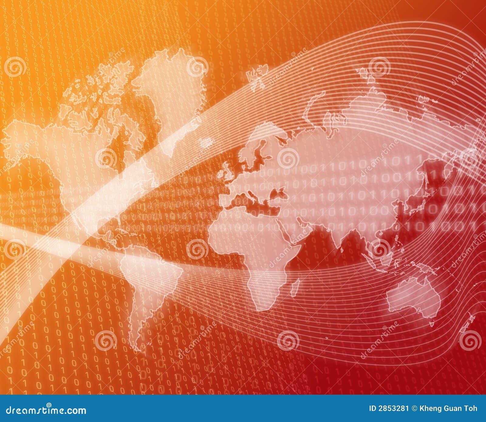Orange de transfert de données du monde