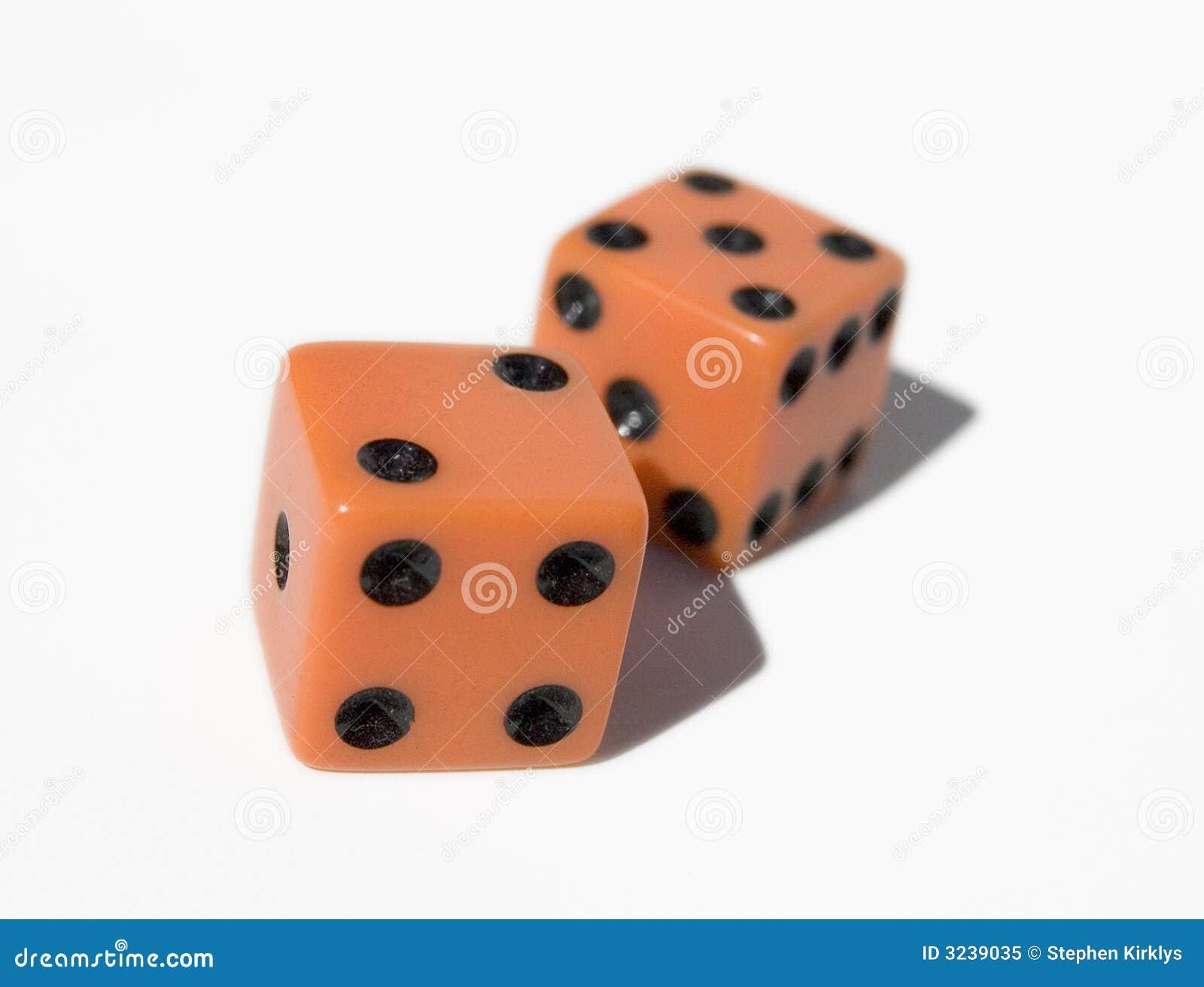 Orange Dice Stock Image Image Of Craps Cubes Luck Square 3239035