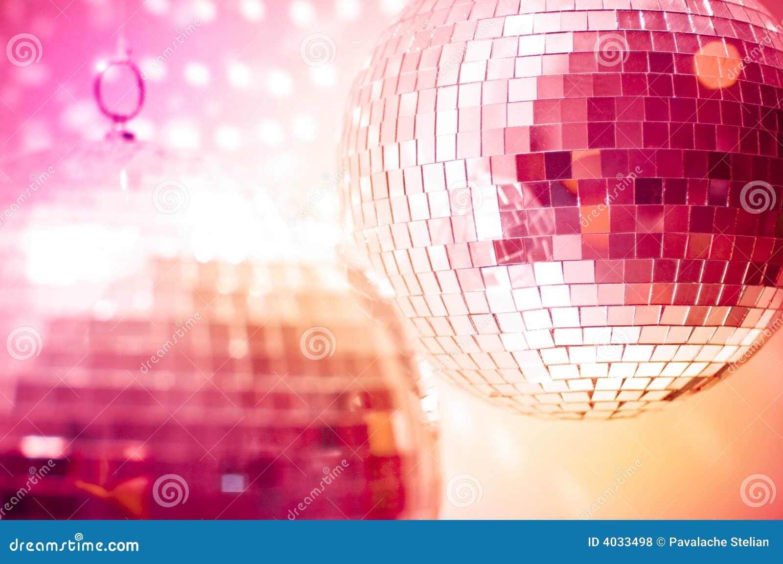 Orange disco globes