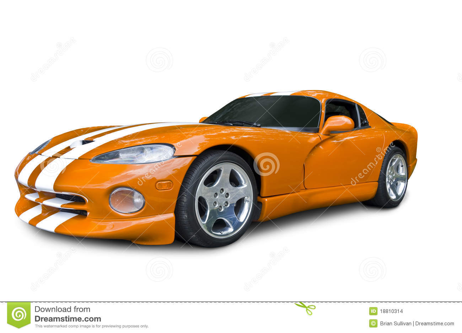 Orange Dodge Viper Sports Car