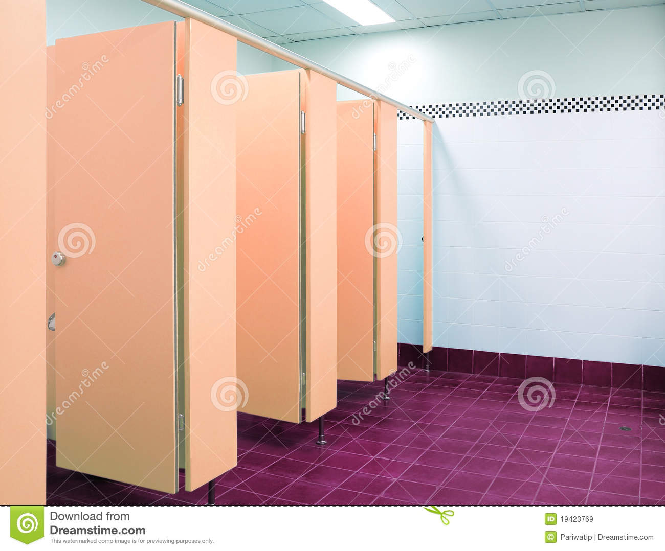 The Orange Door Toilet In The Office Royalty Free Stock Images Image