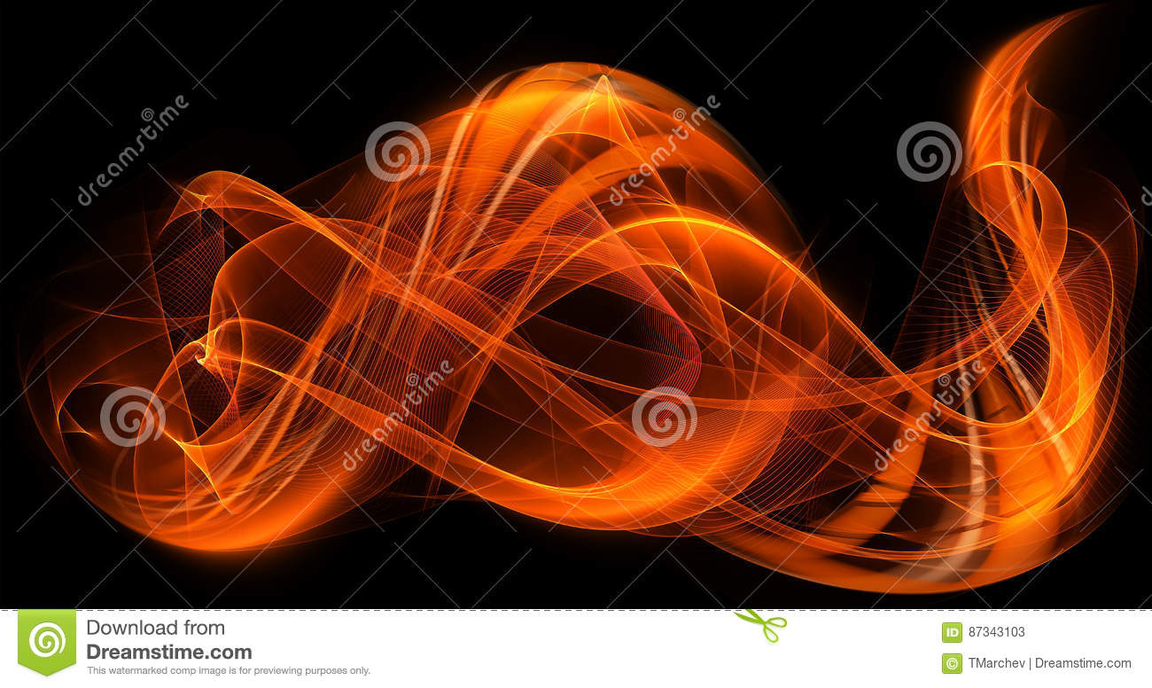 Orange Dynamic Colors Abstract Modern Flame Background
