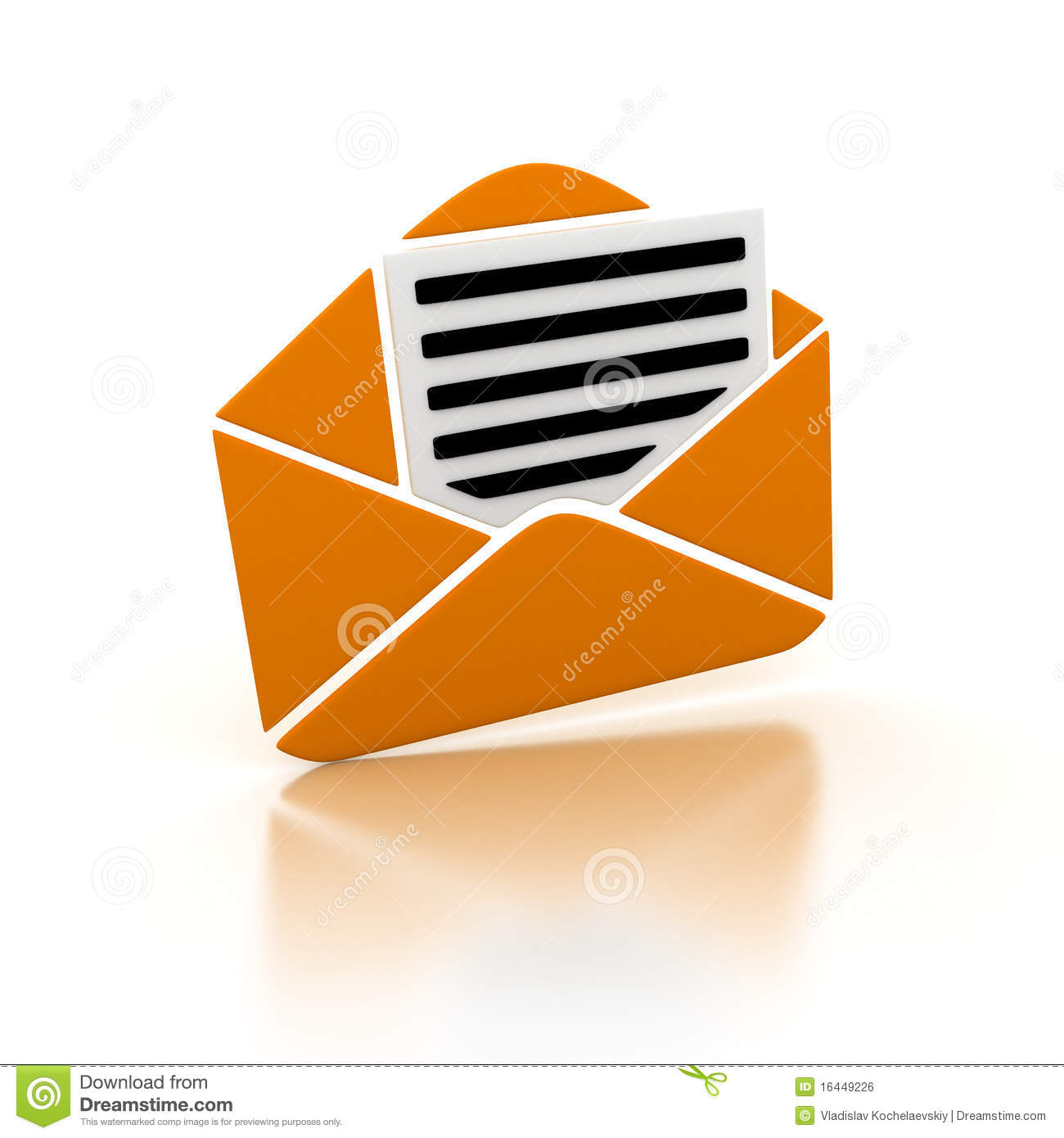 Orange E-mail Royalty Free Stock Image - Image: 16449226