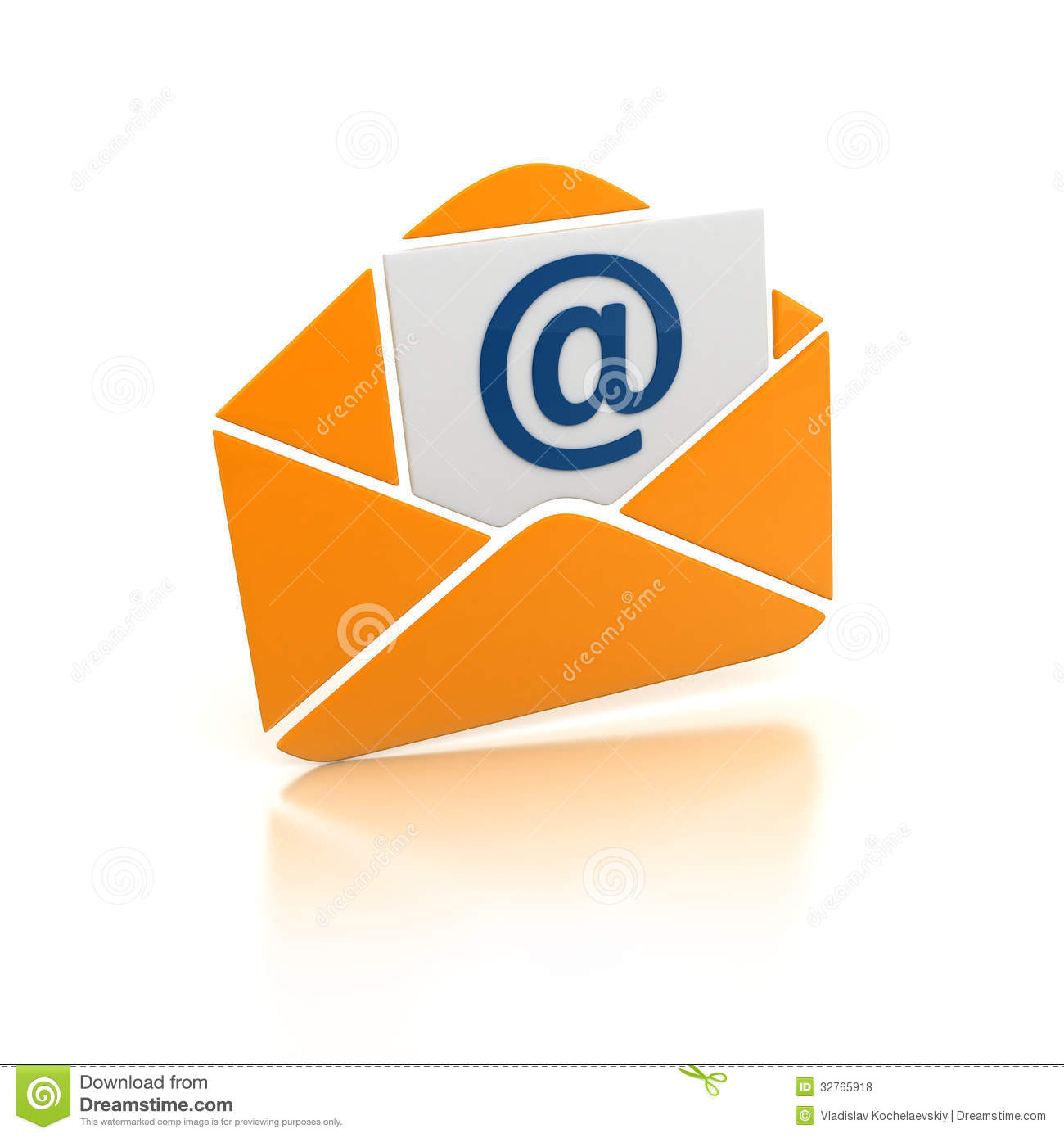 Orange E-mail Royalty Free Stock Photos - Image: 32765918