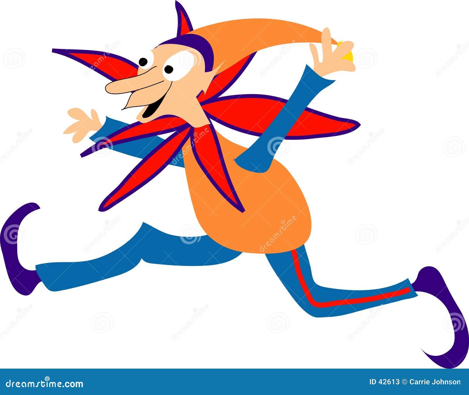Download Orange Elf stock abbildung. Illustration von playtime, spiel - 42613