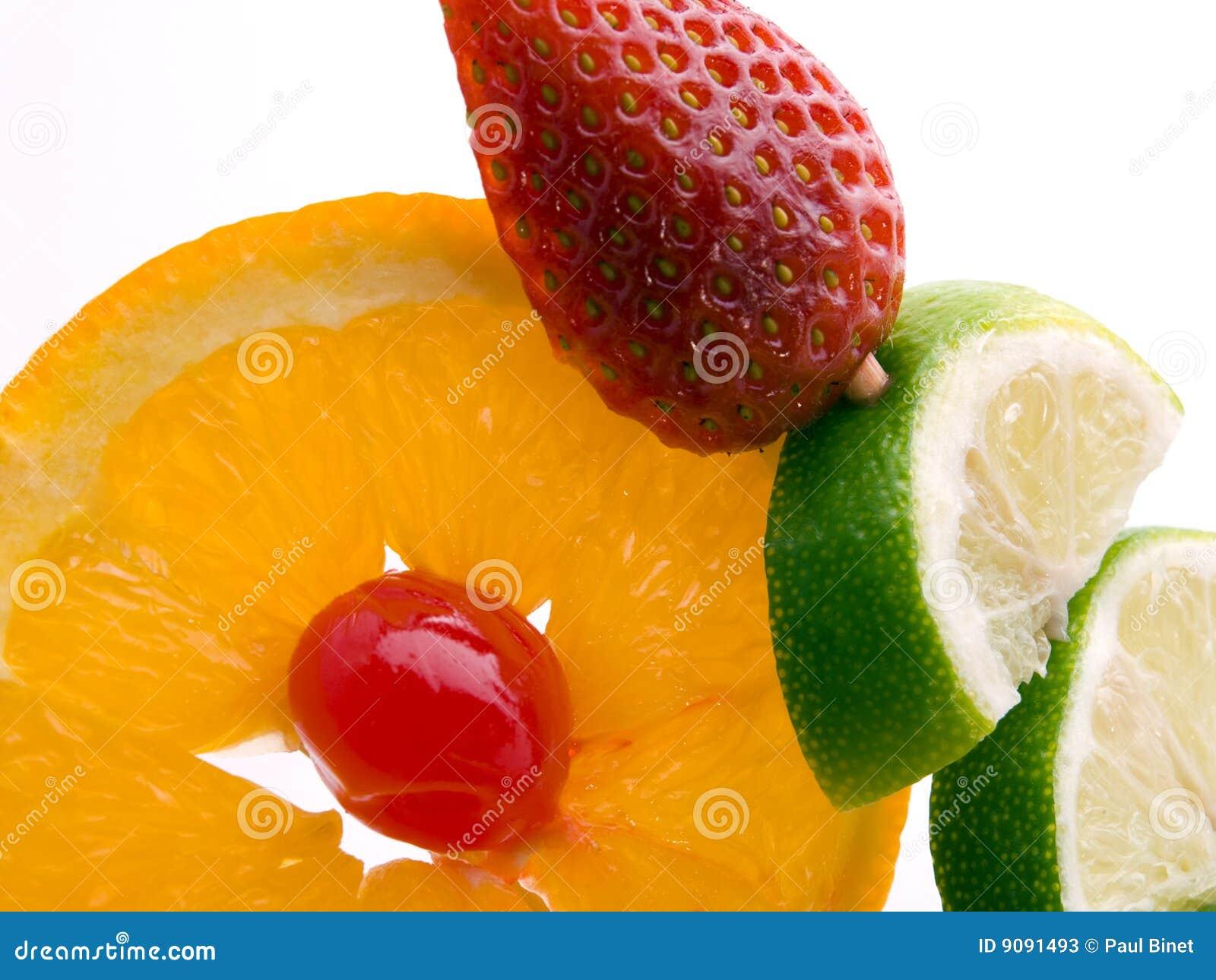 Orange Erdbeere und Zitrone