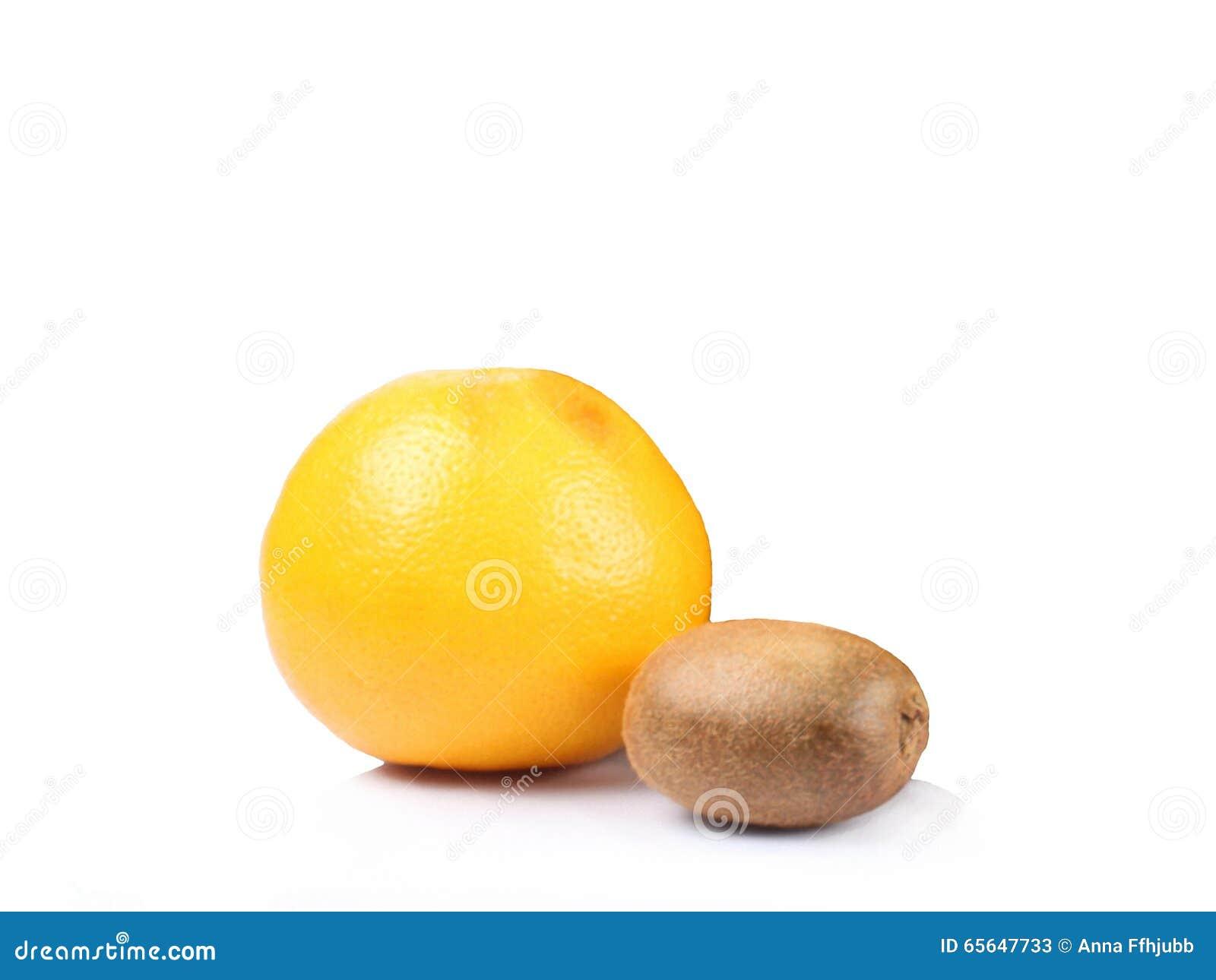 Orange et kiwi