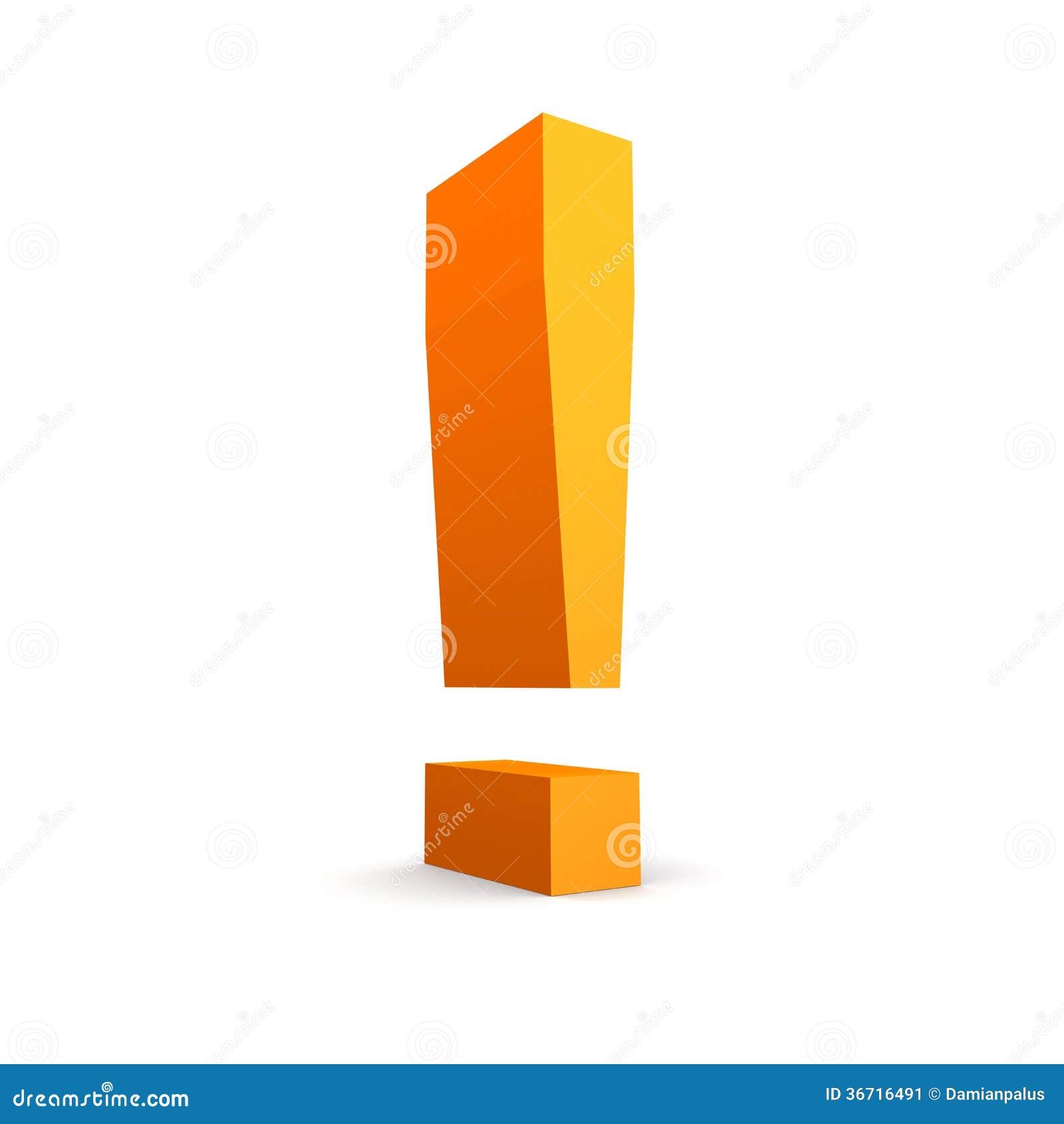 Orange Letter W Logo:  Orange Exclamation Mark Stock Illustration. Illustration