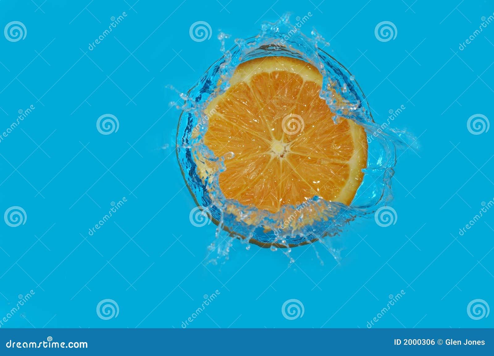Orange färgstänk