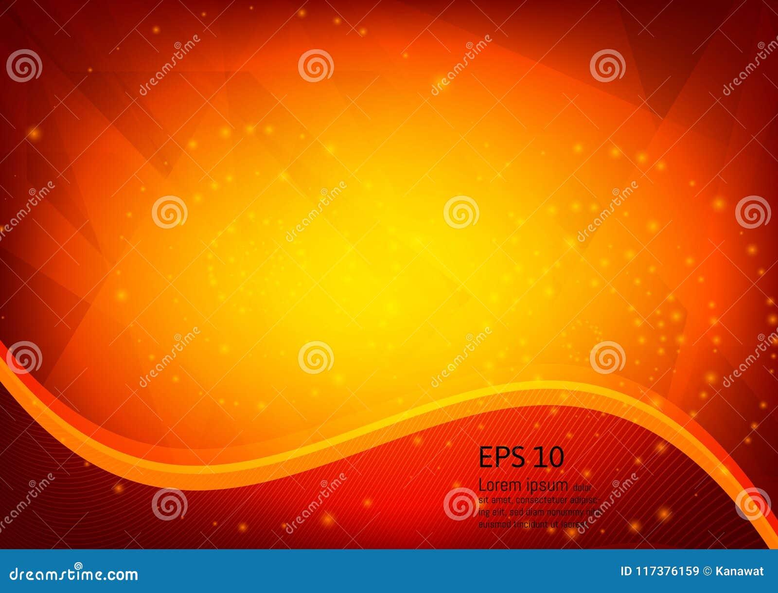 Orange Farbe und helle geometrische Steigungsillustration masern abstrakten Vektorhintergrund