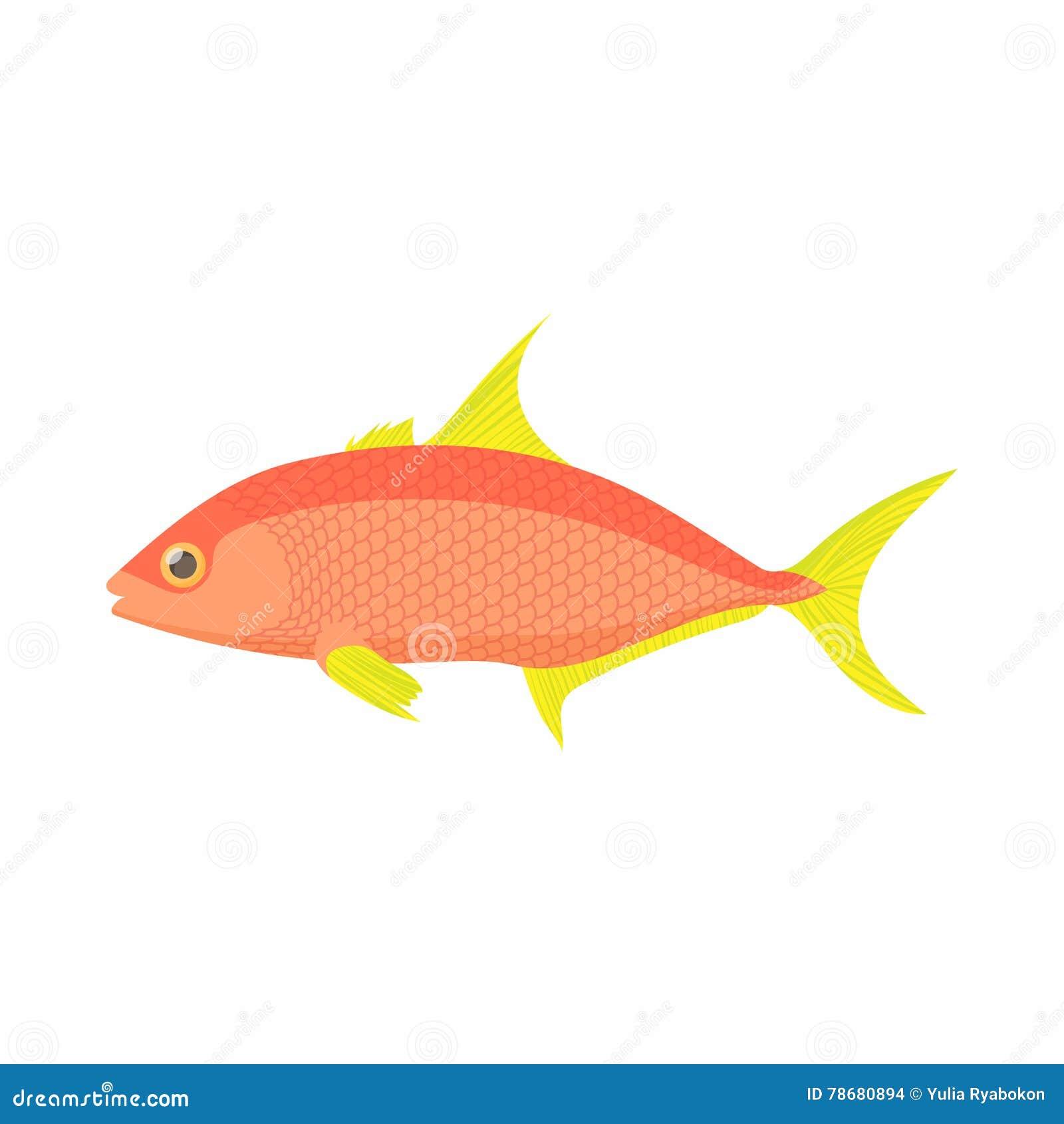 Icon Reef Fish. Cartoon Vector