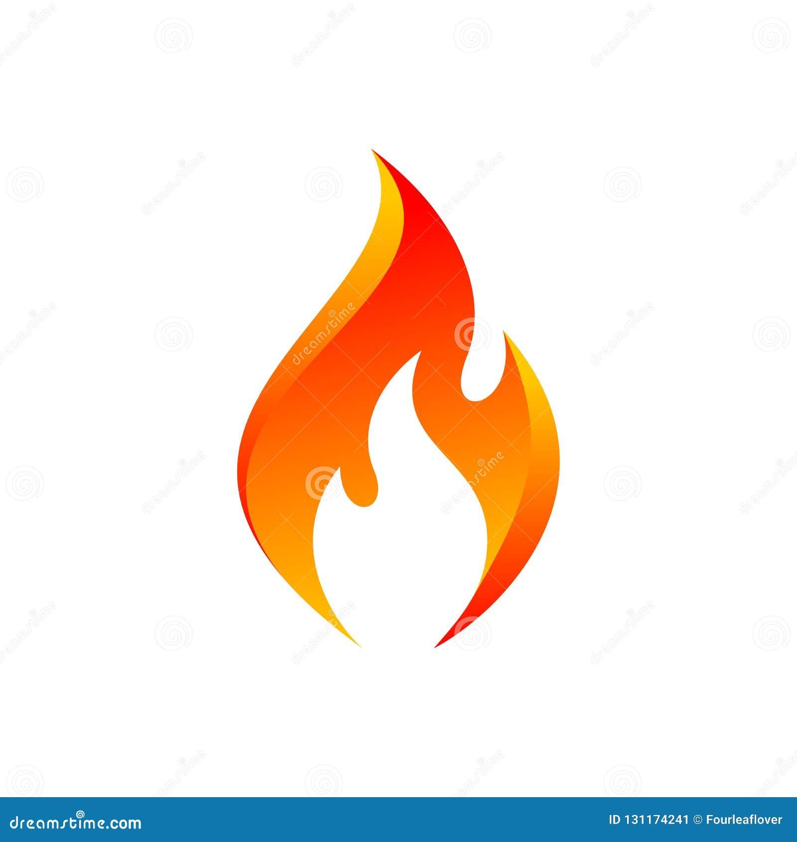 Orange flammasymbol för vektor
