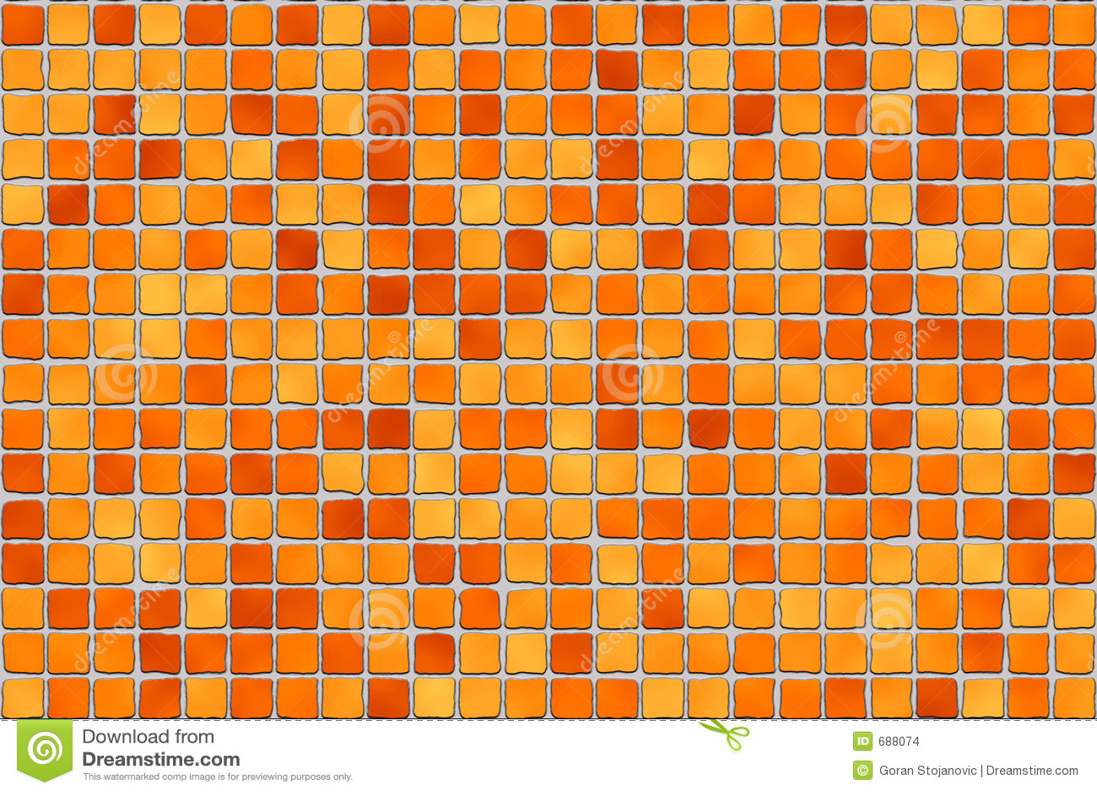 orange fliesen mosaik stockfoto bild von badezimmer 688074. Black Bedroom Furniture Sets. Home Design Ideas