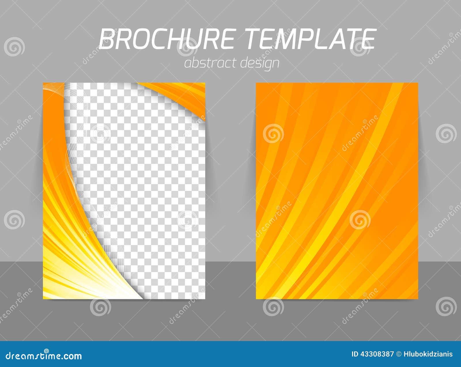 orange flyer template stock vector