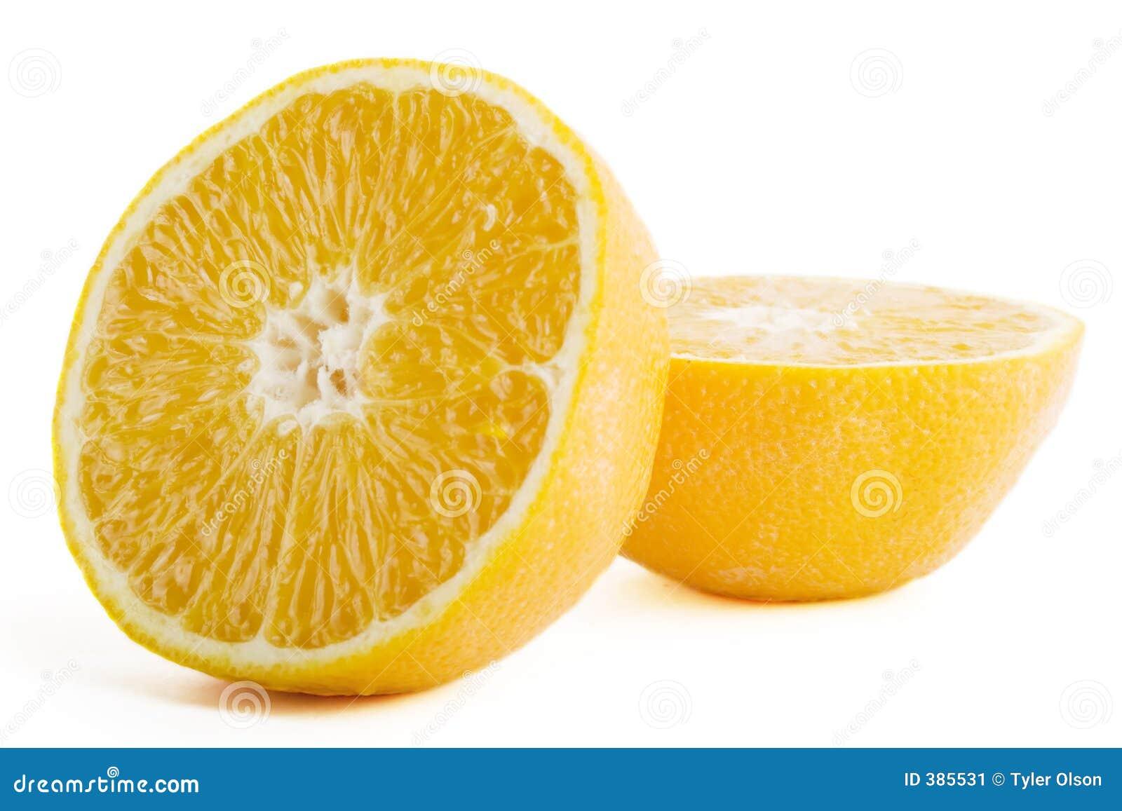 Orange fraîche de coupure