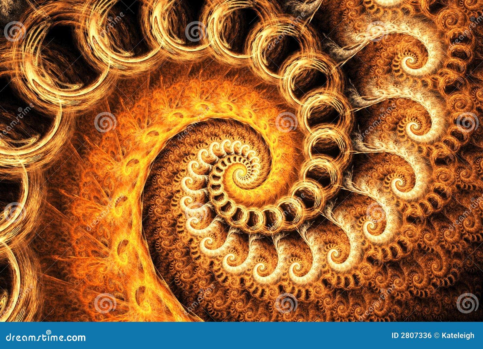 orange fractal spiral stock illustration illustration of
