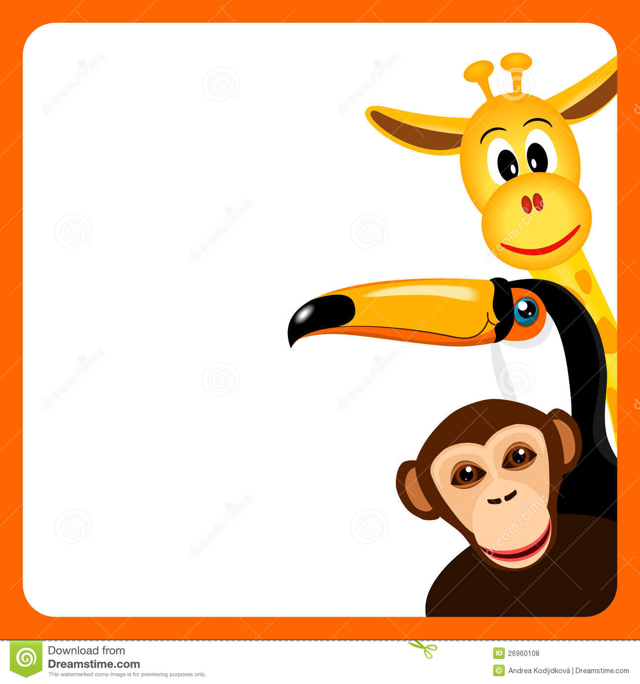 royalty free stock photo - Monkey Picture Frame