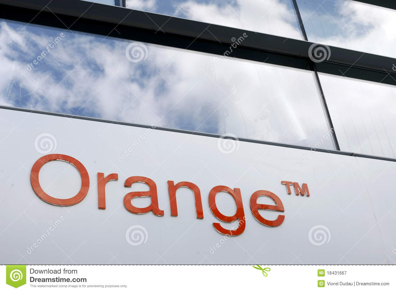 orange - france telecom editorial photography