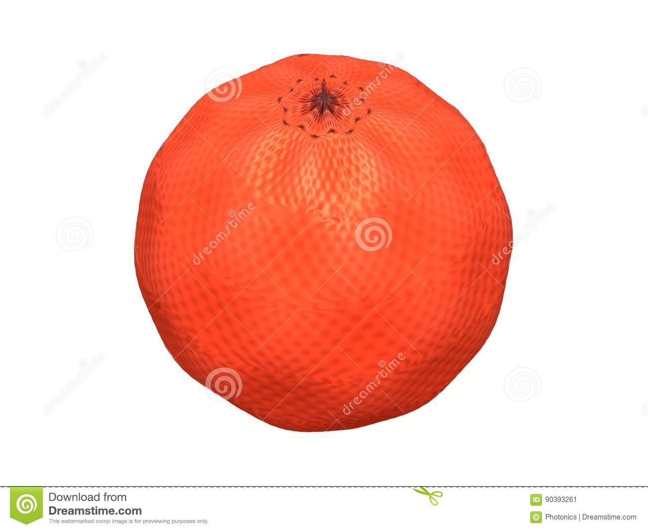 Orange Fruit Abstract Image Stock Vector Illustration Of