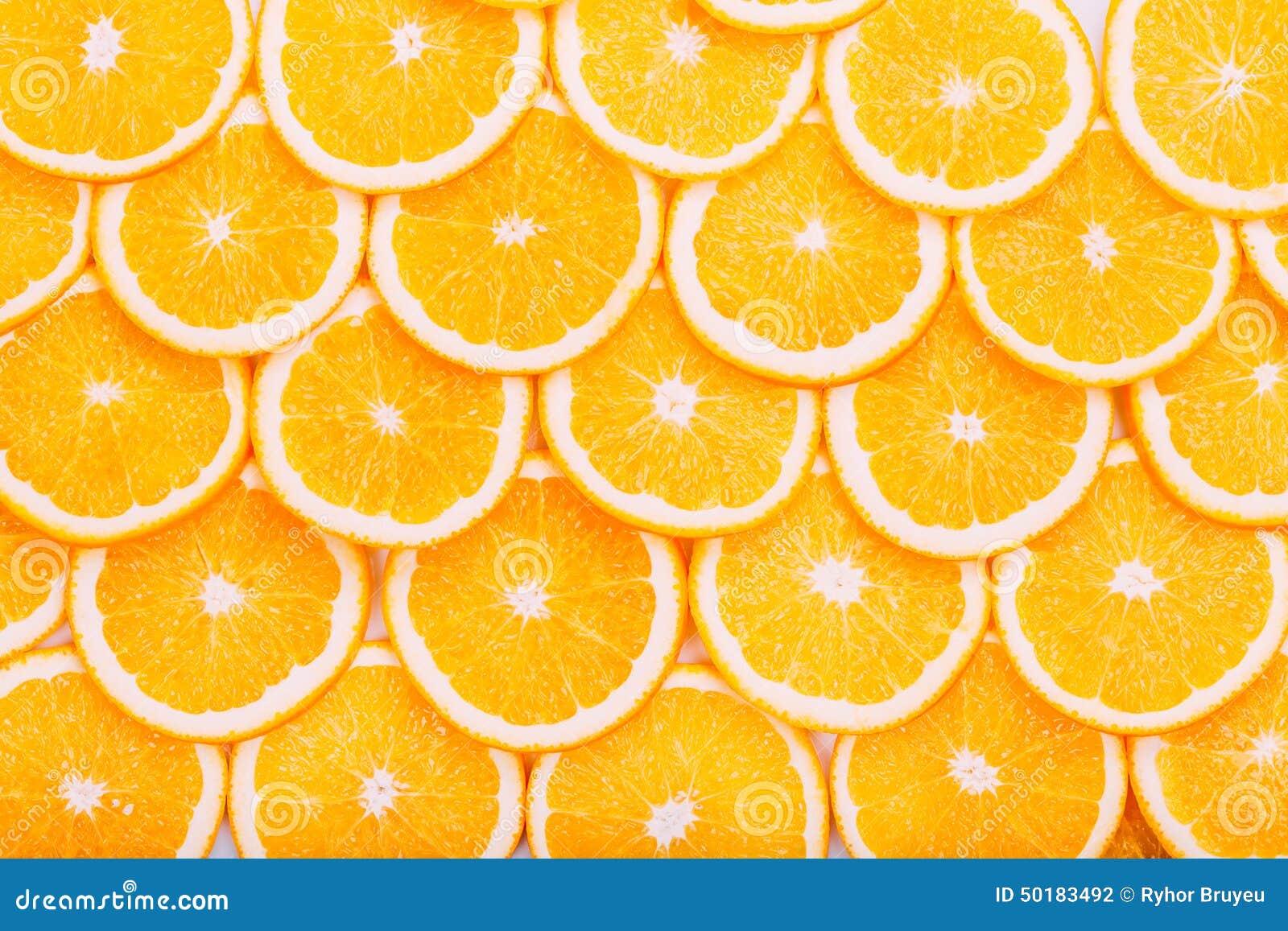 Orange Fruit Background. Summer Oranges. Healthy