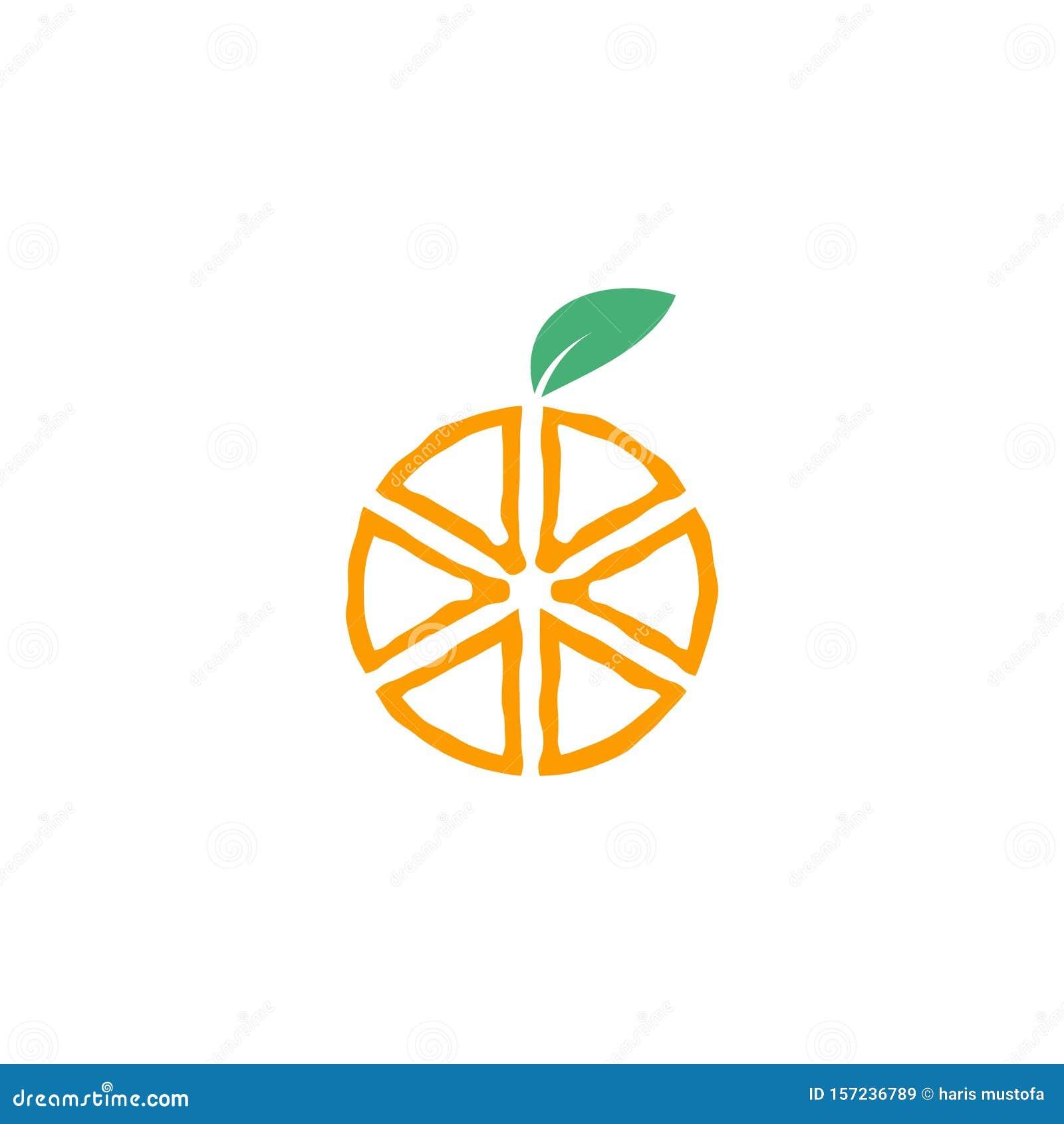 Orange Fruit Graphic Design Template Vector Isolated Stock