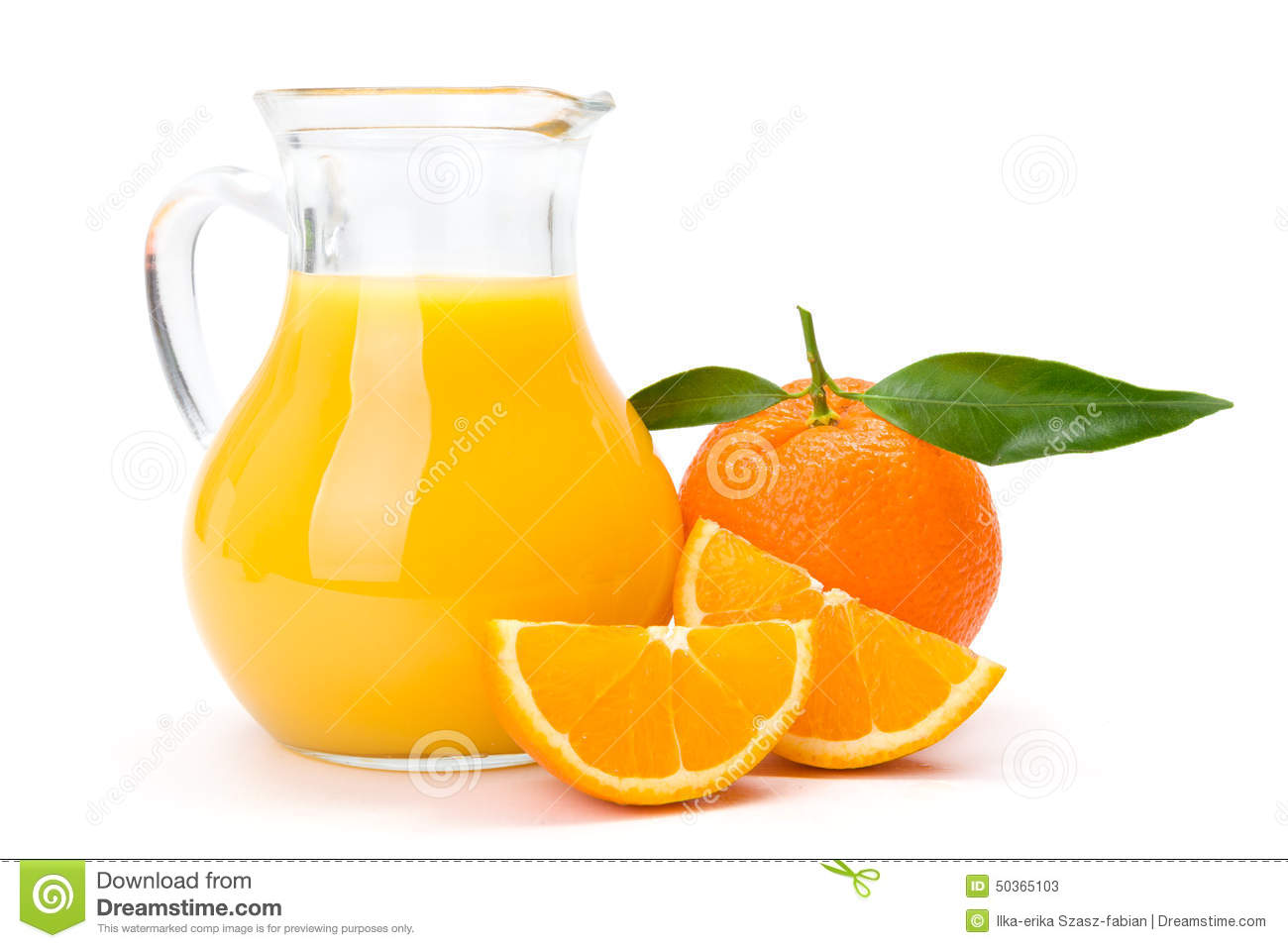 Orange fruit and jug of juice