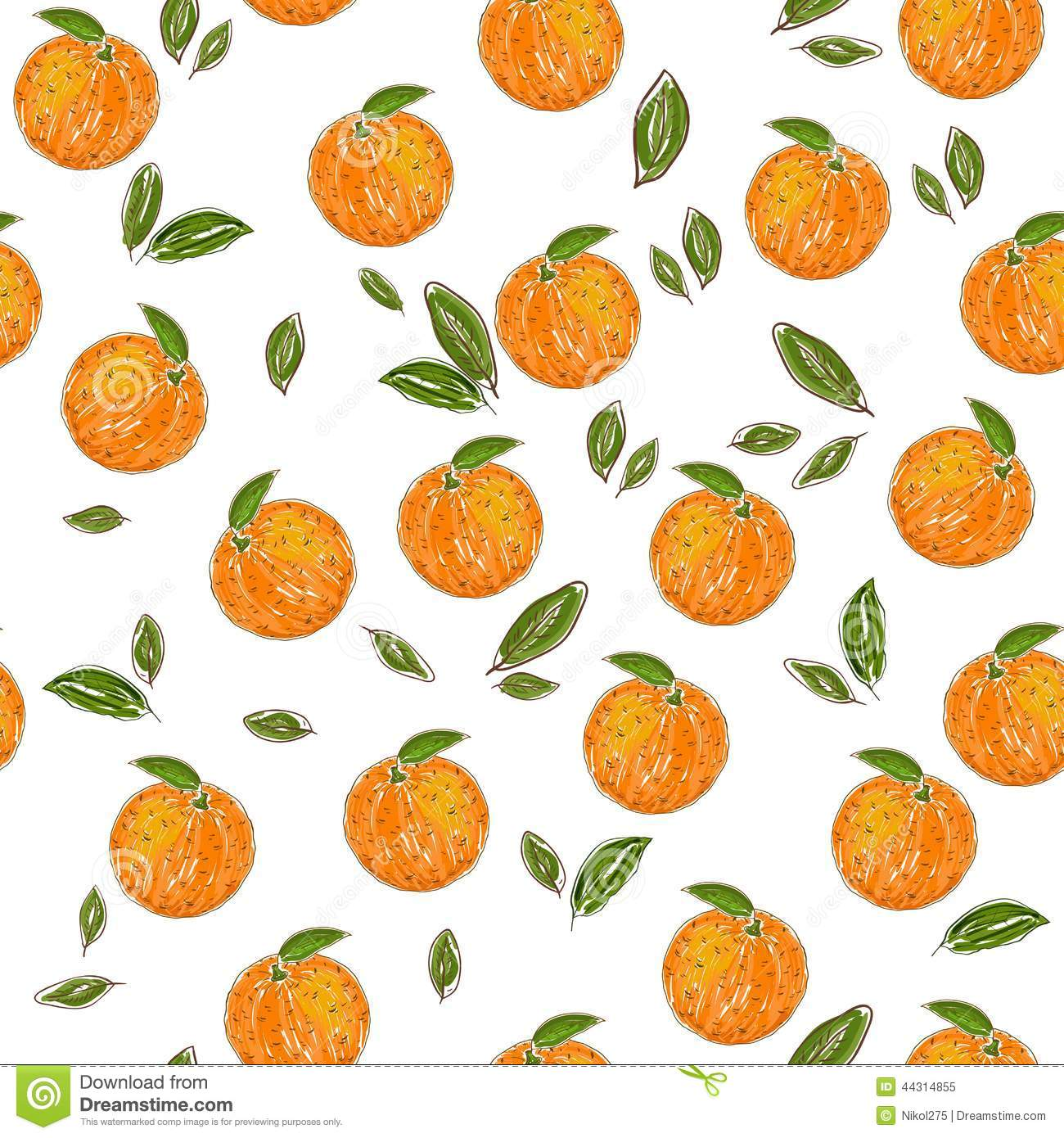 Orange Fruit Pattern Stock Vector - Image: 44314855