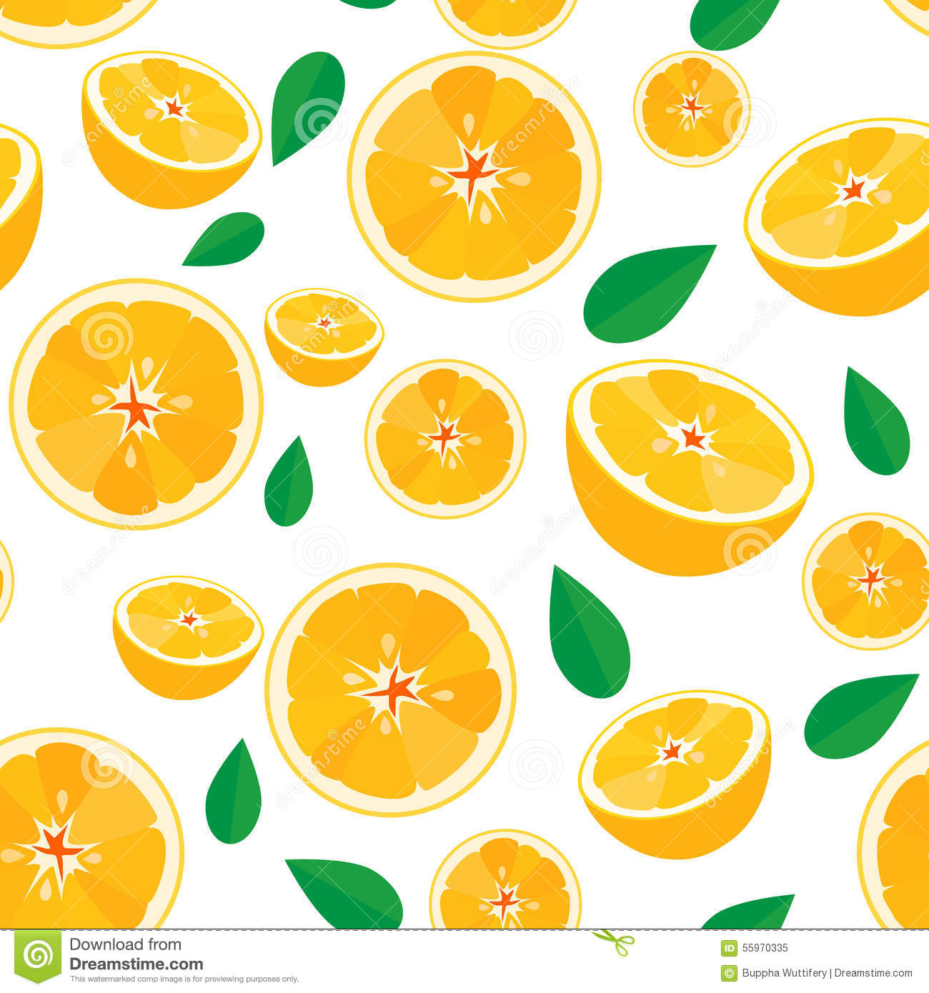 Orange Fruit,seamless Pattern Background Stock Vector ...