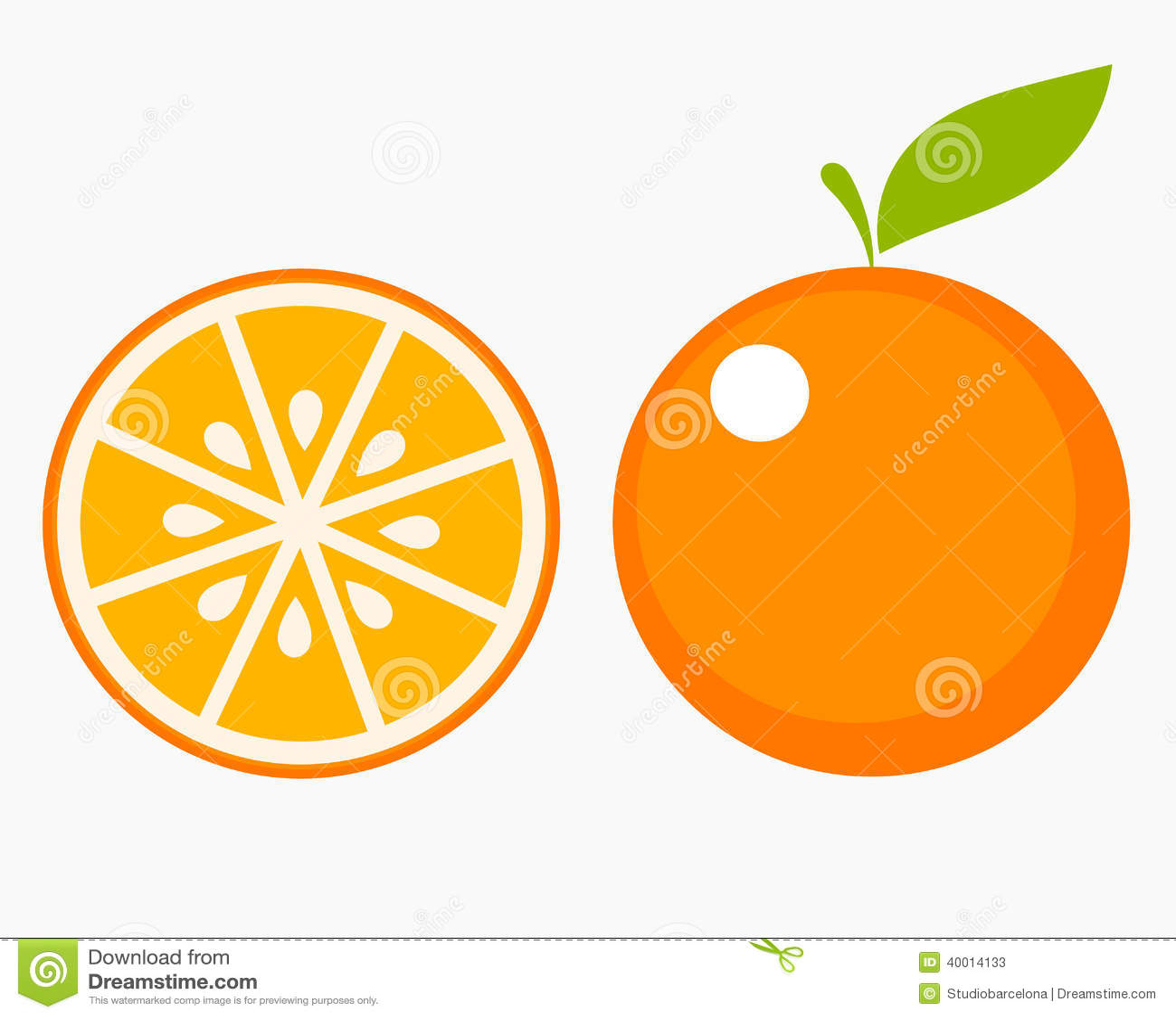 Orange Fruit Slice Stock Vector Illustration Of Abstract