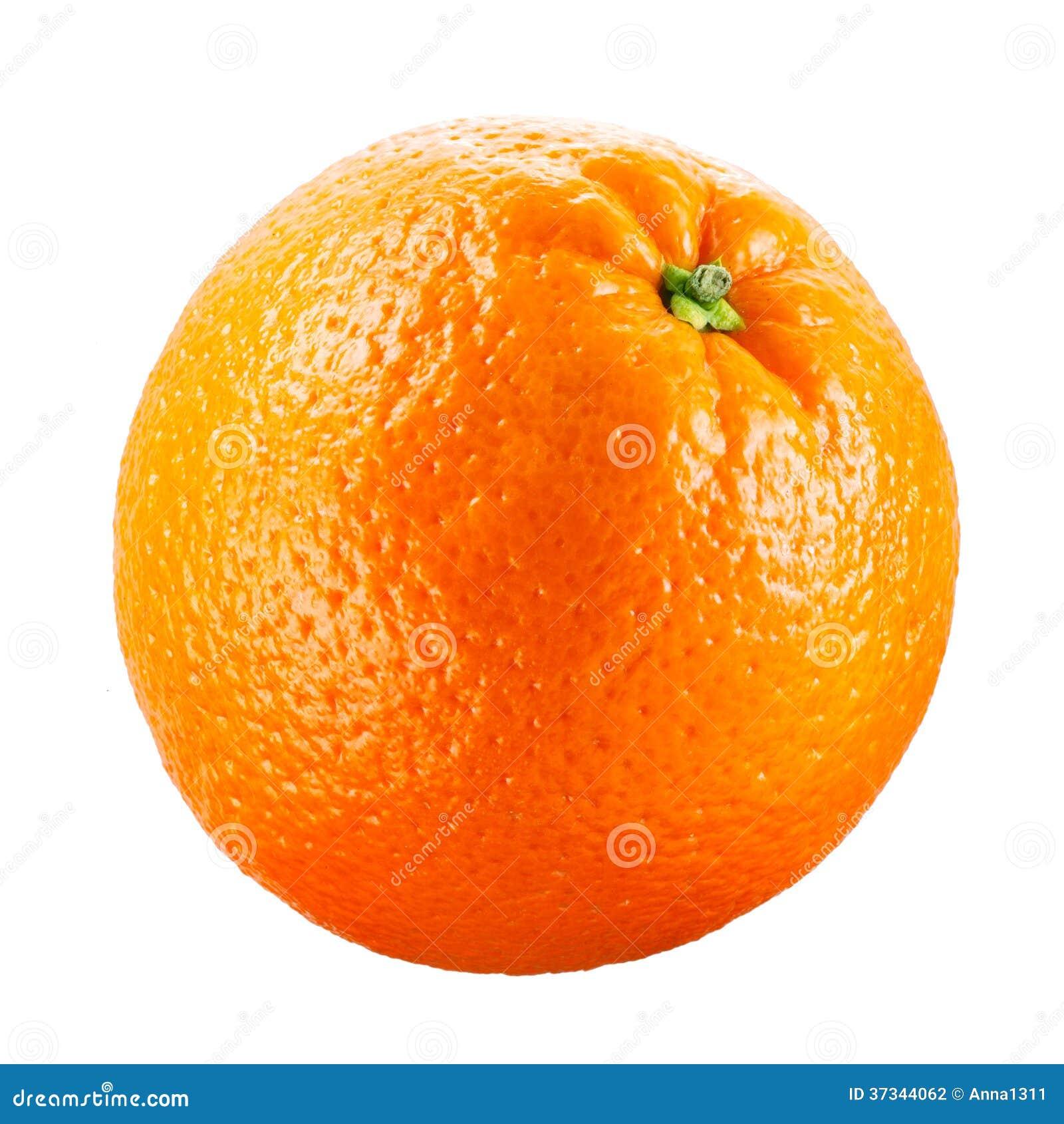 Orange frukt som isoleras på vit